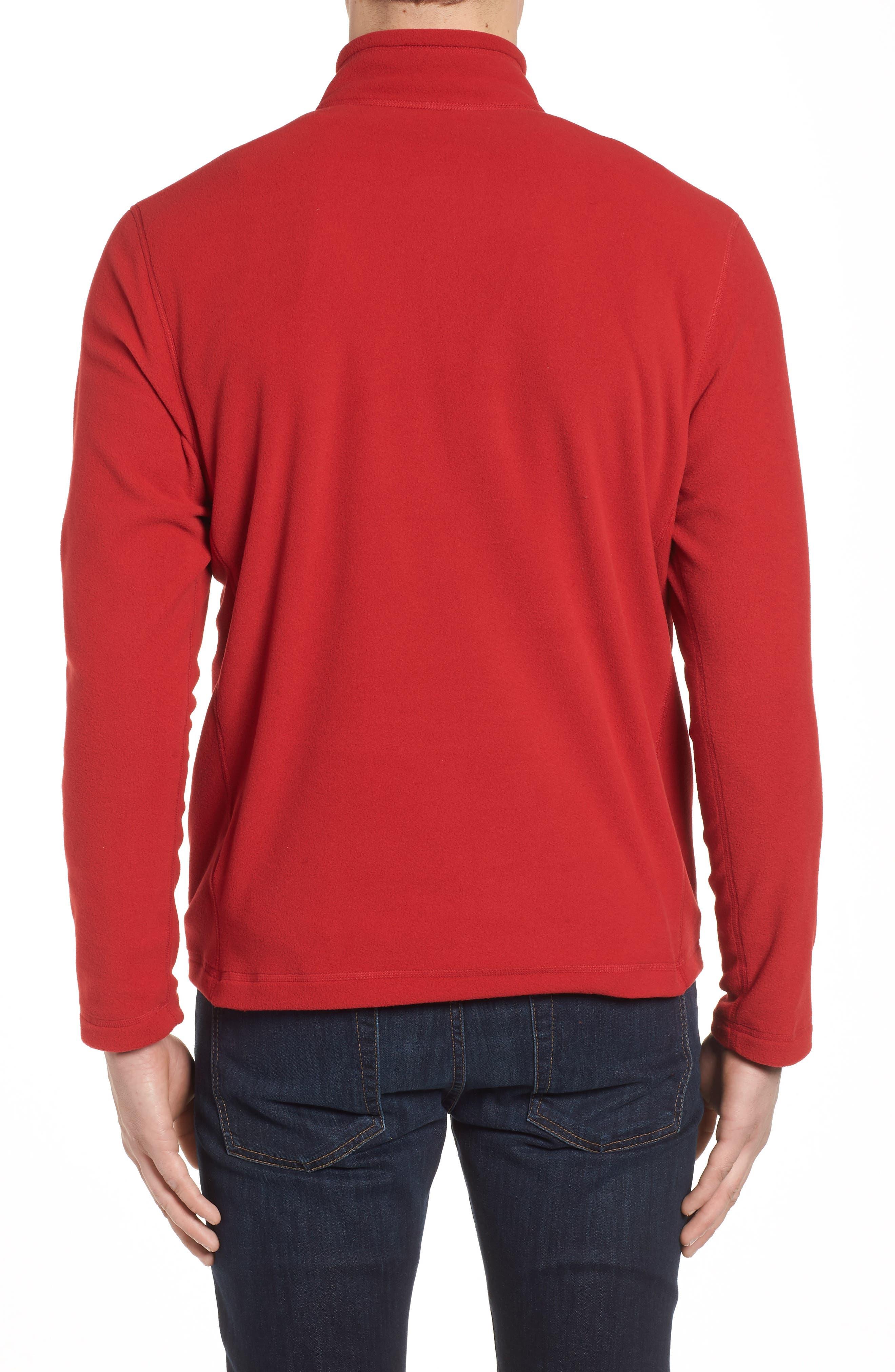 'TKA 100 Glacier' Quarter Zip Fleece Pullover,                             Alternate thumbnail 2, color,                             RAGE RED/ RAGE RED