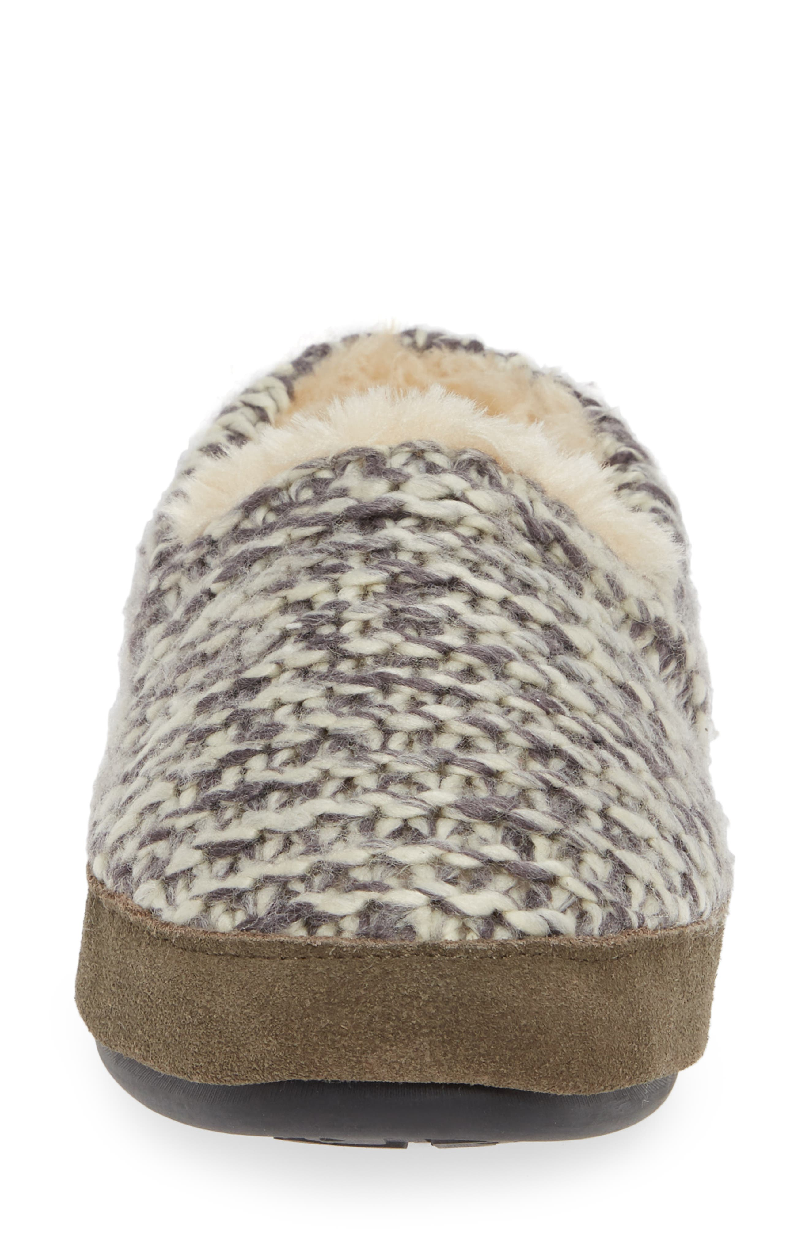 Whitecap Knit Slipper,                             Alternate thumbnail 4, color,                             WARM NEUTRAL FABRIC