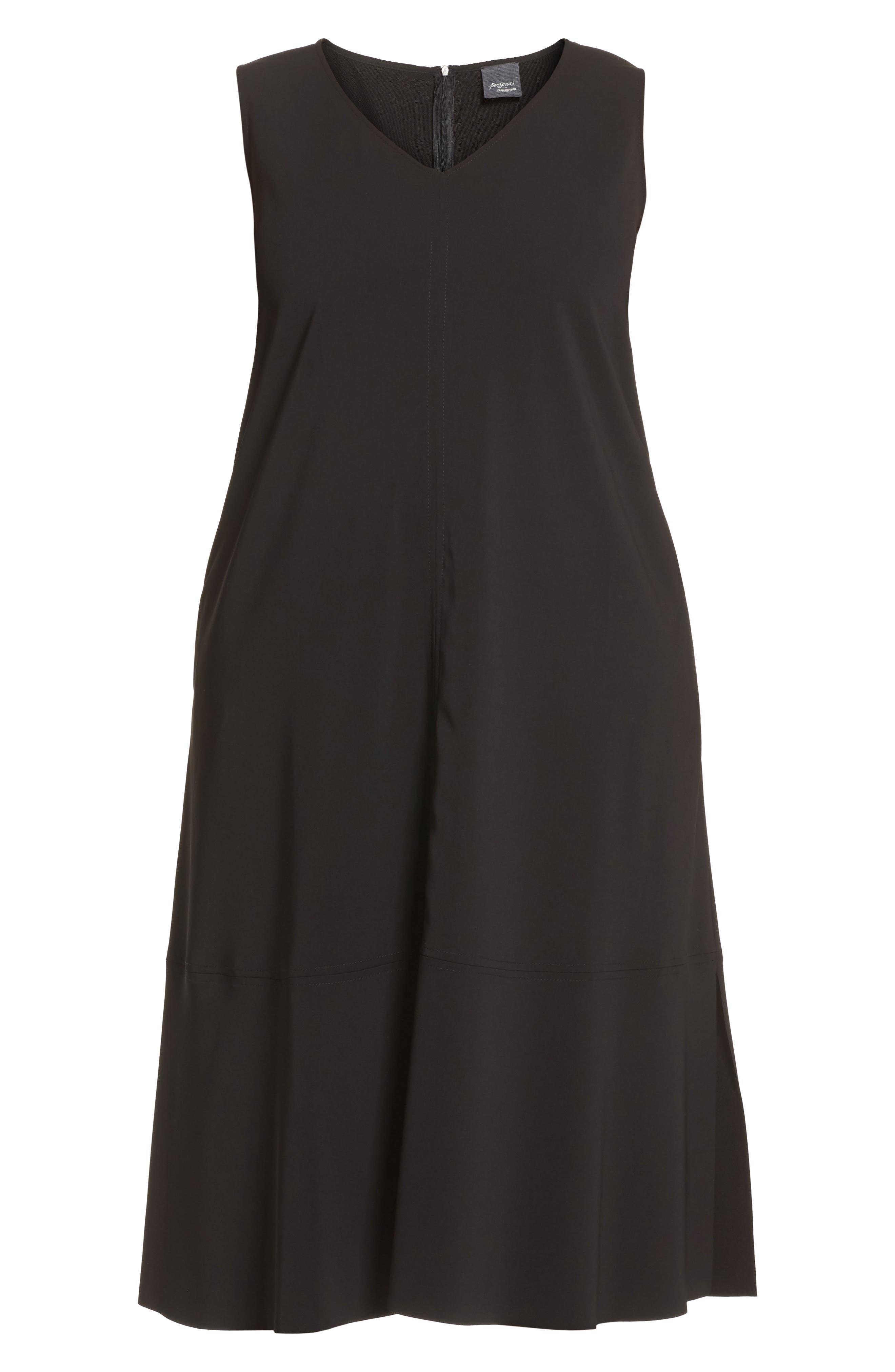 Slit Sleeve Knit Sheath Dress,                             Alternate thumbnail 6, color,                             010
