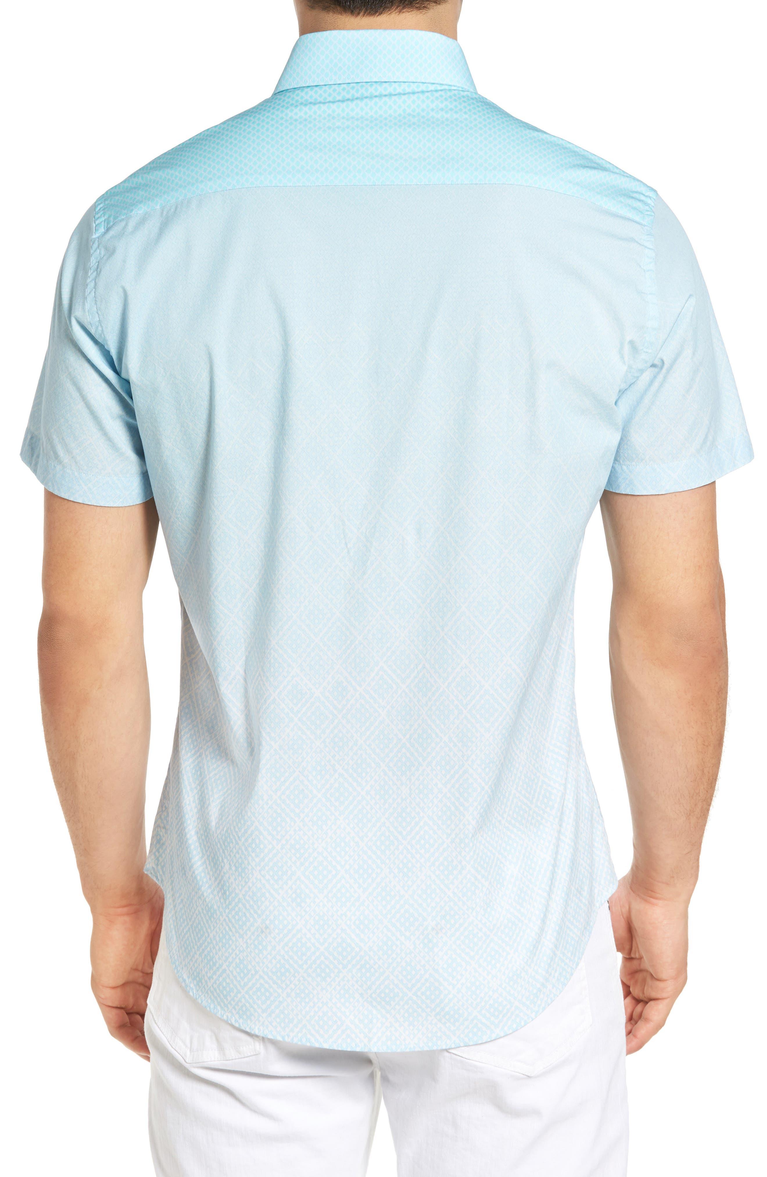 Gradient Diamond Sport Shirt,                             Alternate thumbnail 2, color,                             330