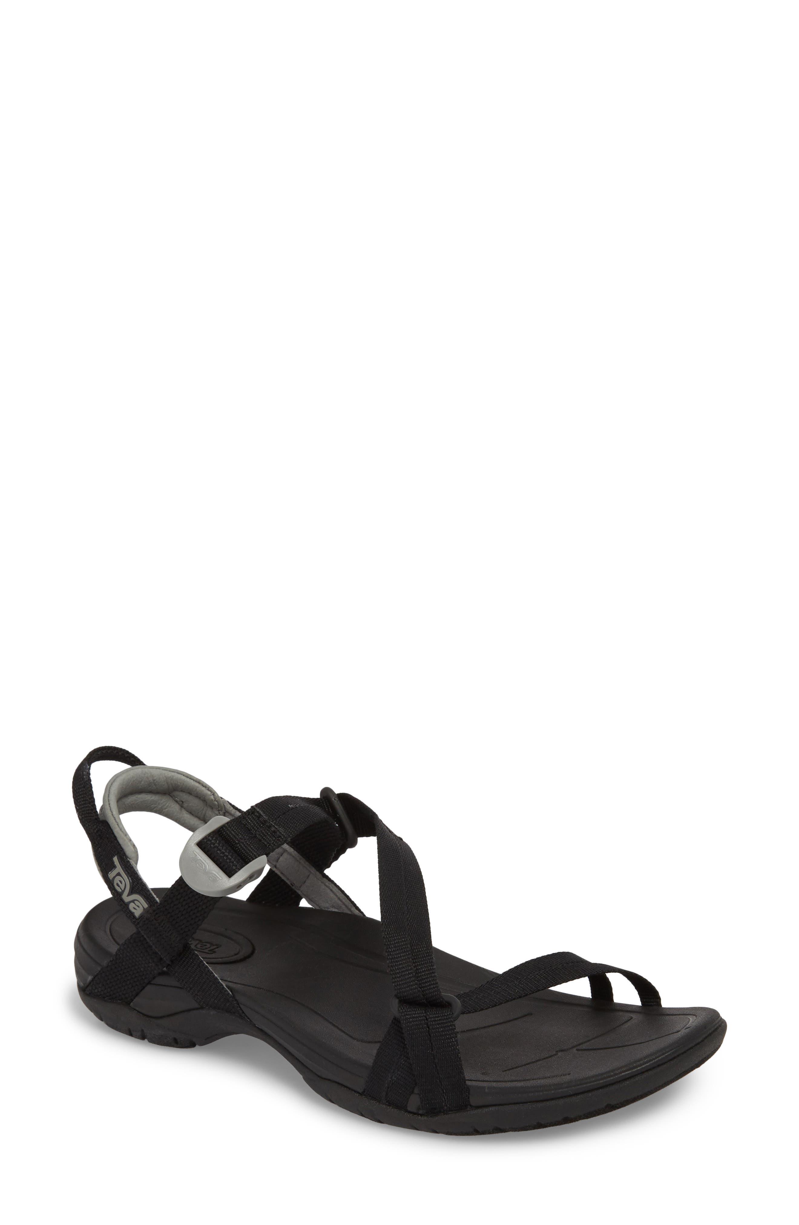 Sirra Sandal,                         Main,                         color, BLACK