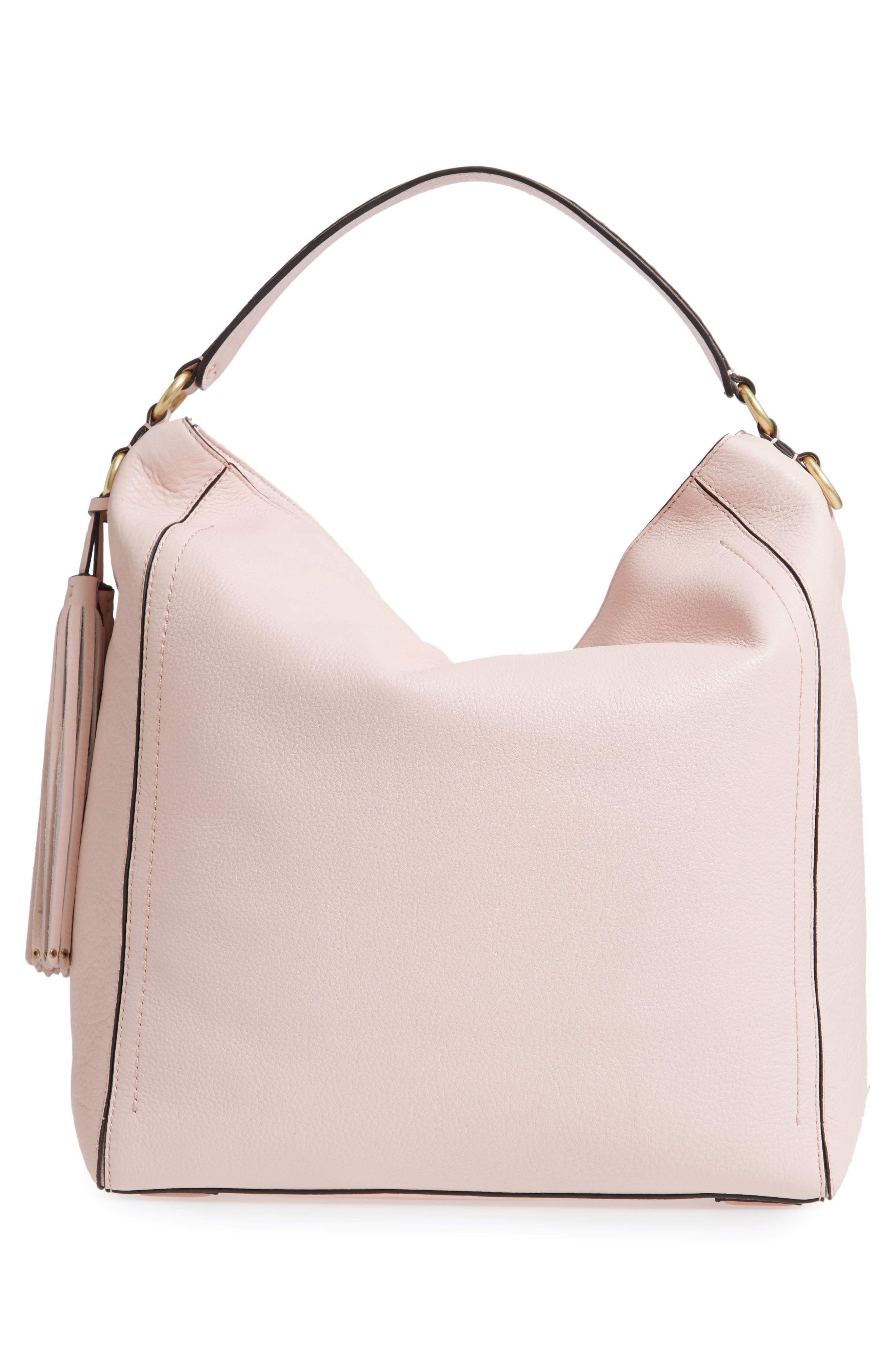 Cassidy RFID Pebbled Leather Bucket Bag,                             Alternate thumbnail 12, color,