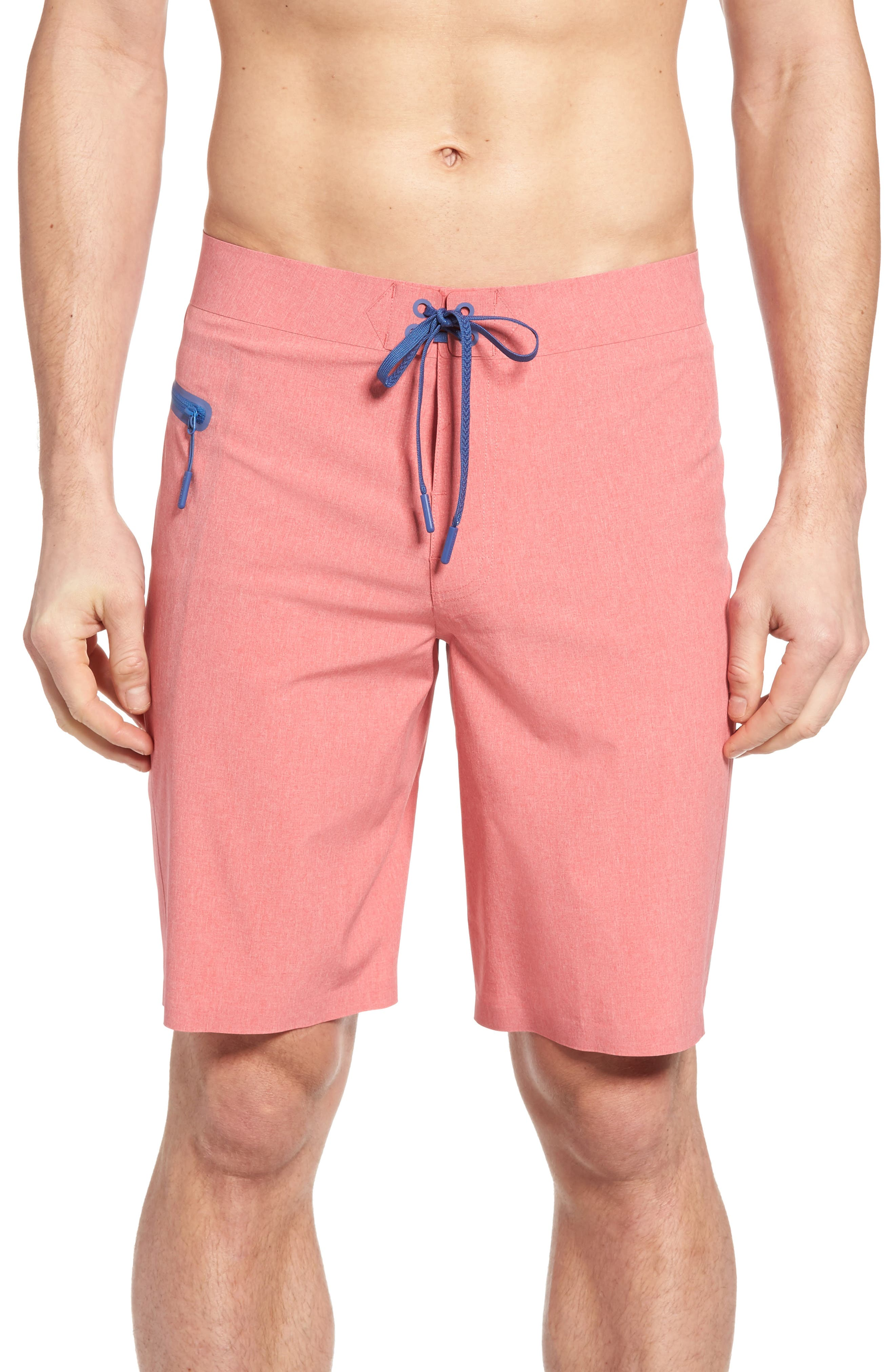 Heather Stretch Board Shorts,                             Main thumbnail 4, color,