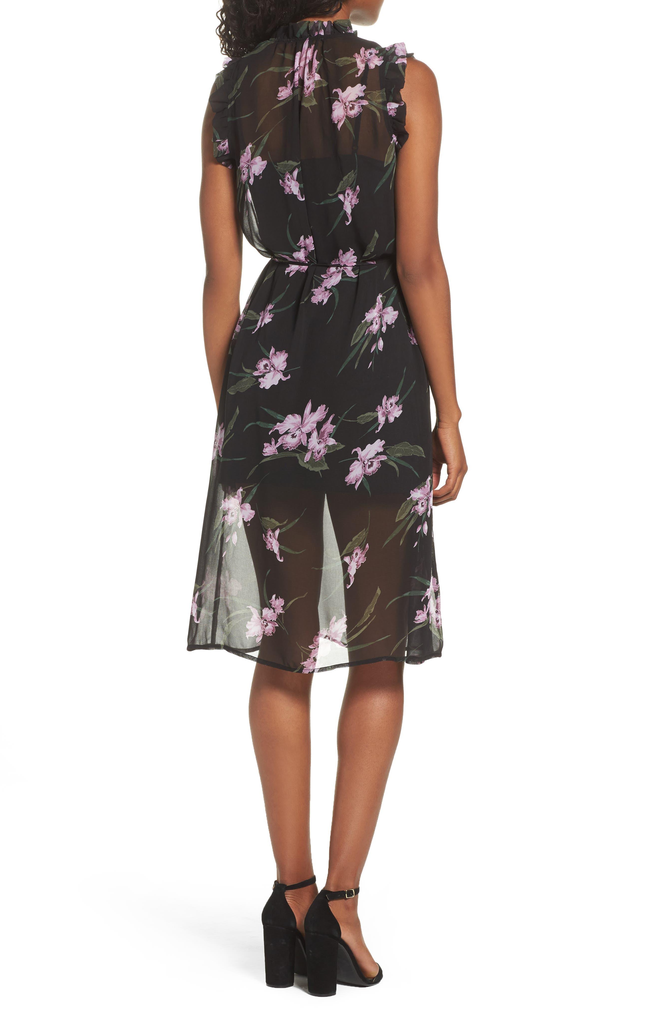 Sarah High Neck Dress,                             Alternate thumbnail 2, color,                             001