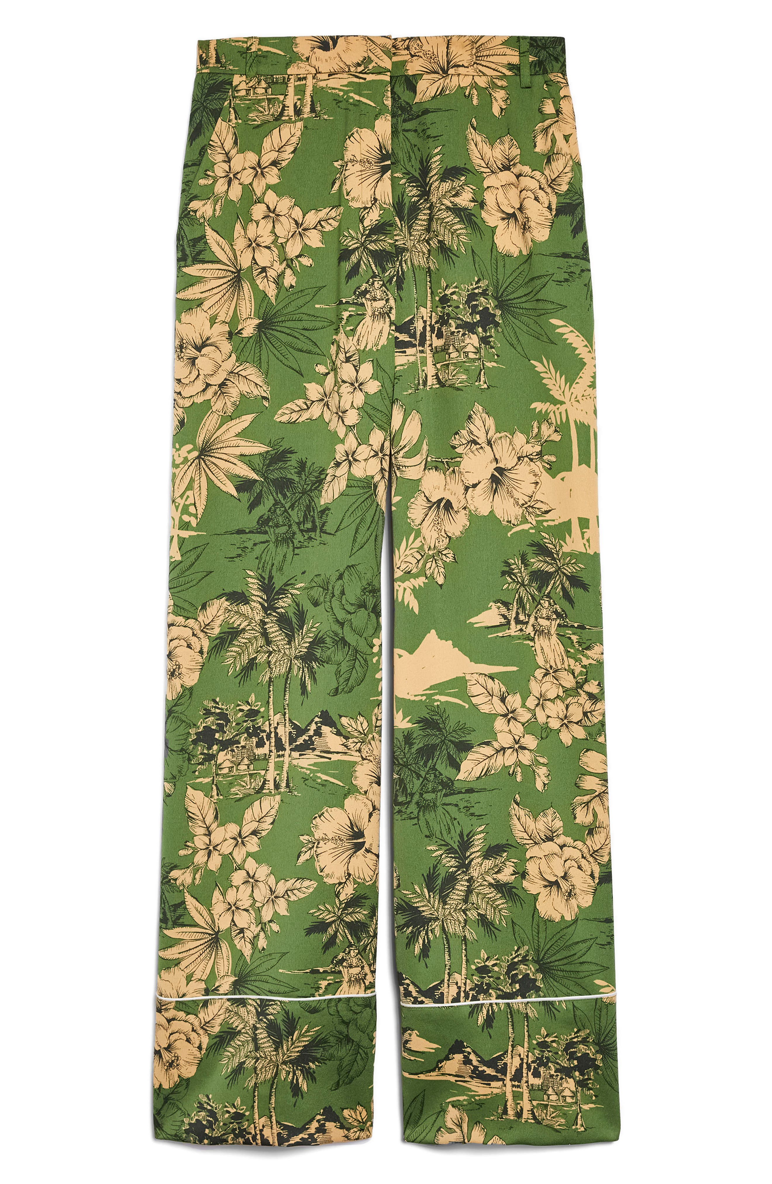 Tropical Pajama Jacket,                             Alternate thumbnail 4, color,                             300