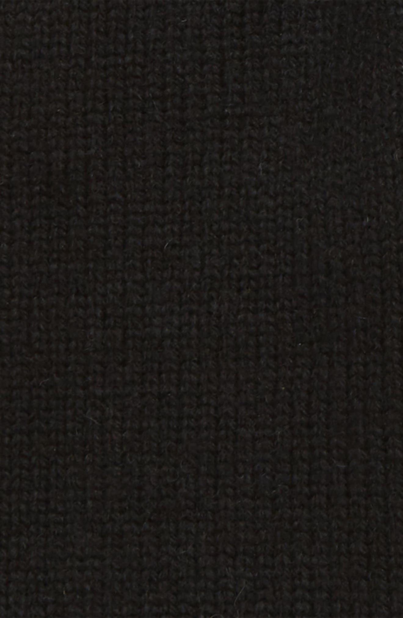 Leather Palm Knit Gloves,                             Alternate thumbnail 2, color,                             BLACK
