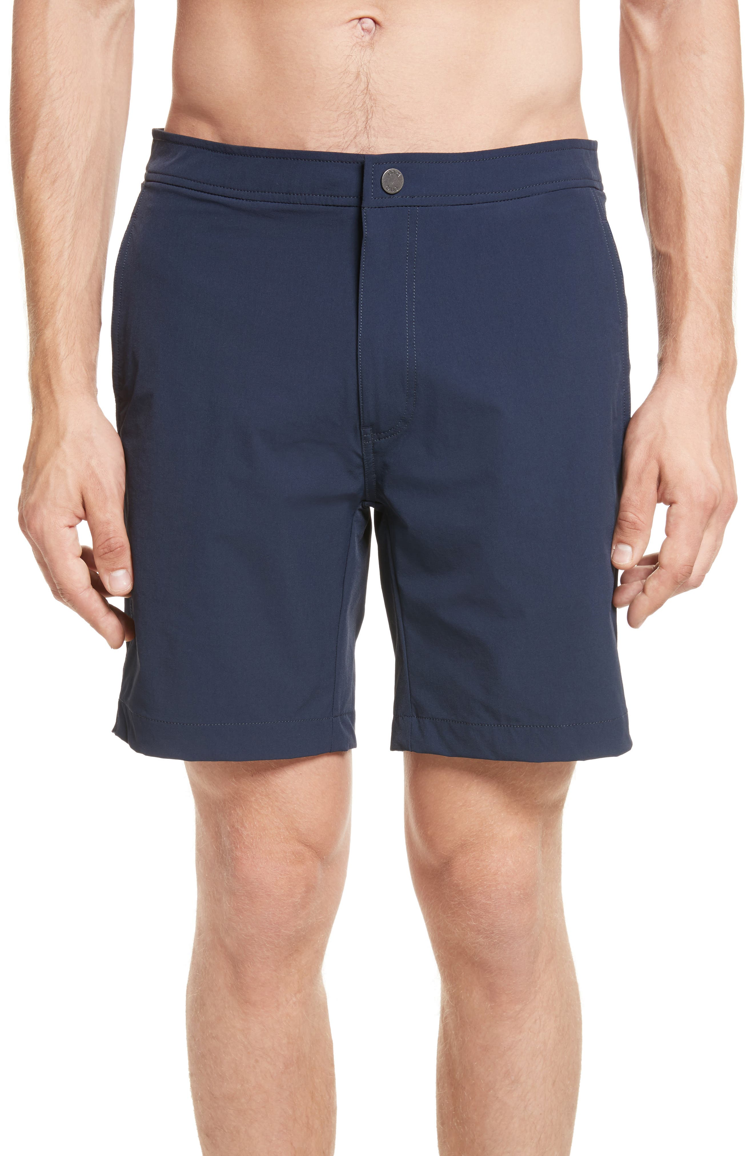 Vintage Men's Swimsuits – 1930s, 1940s, 1950s Mens Onia Calder Swim Trunks Size 36 - Blue $38.99 AT vintagedancer.com