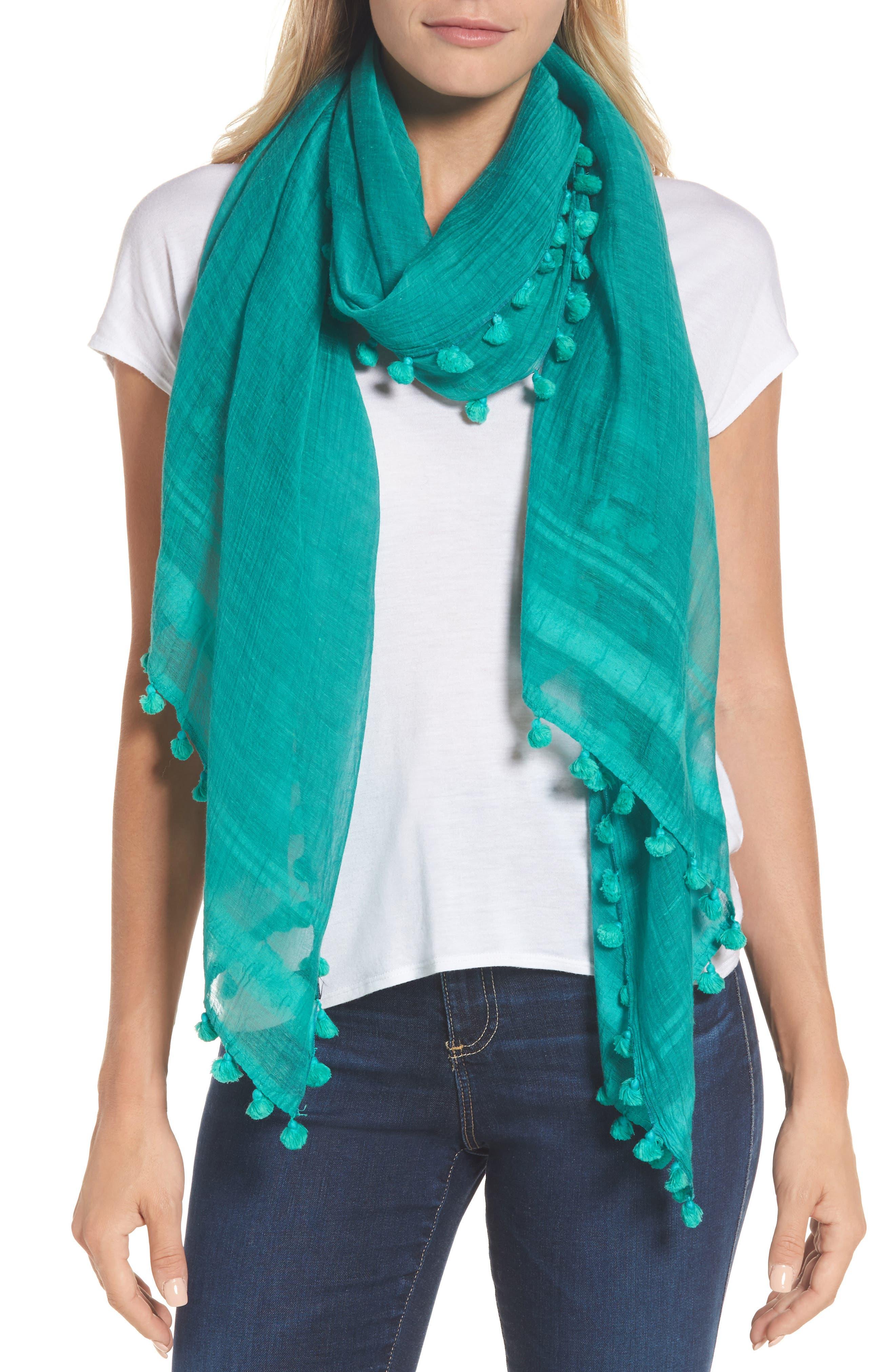 Cotton & Silk Scarf,                         Main,                         color, 300