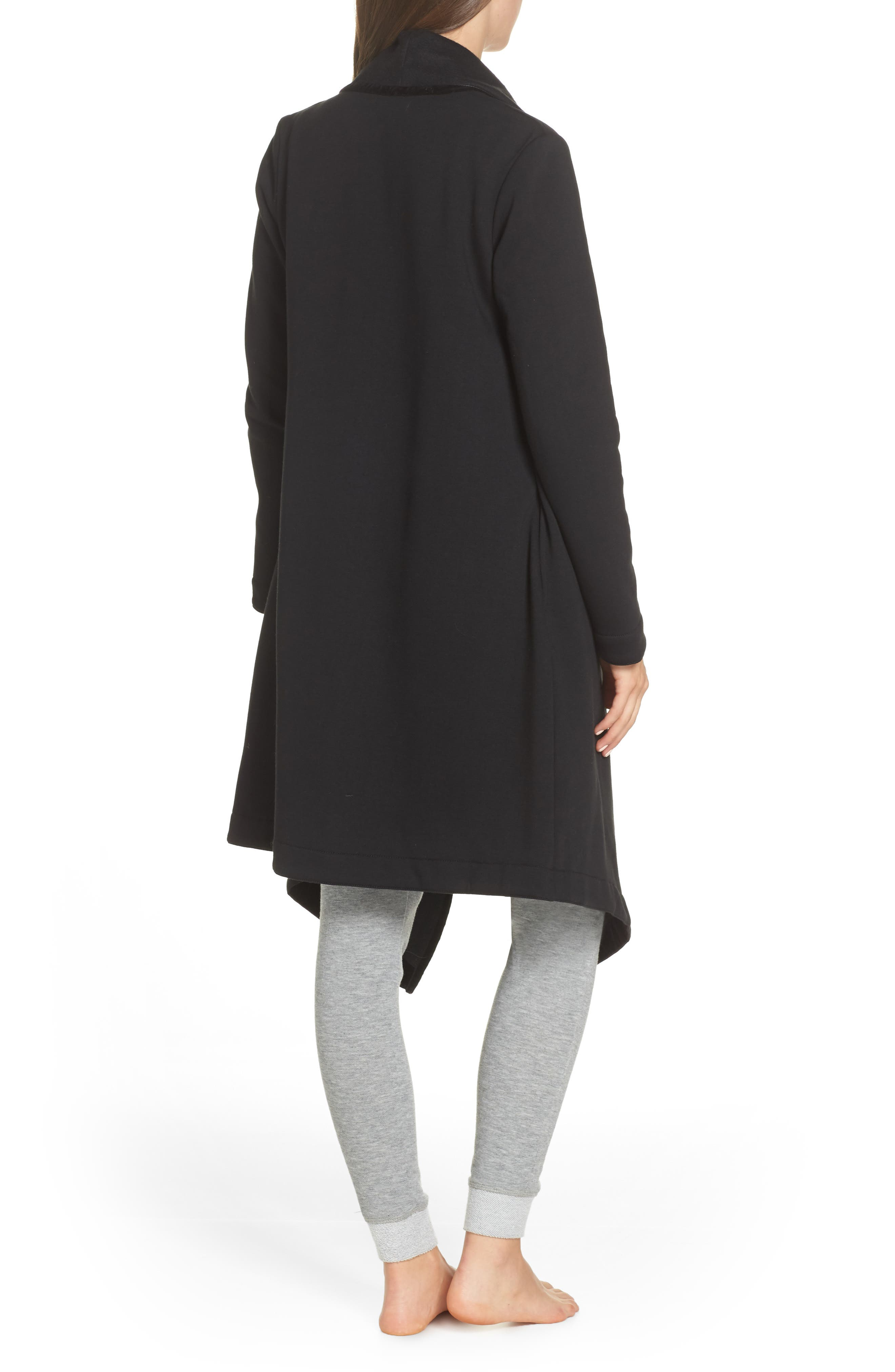 Janni Fleece Cardigan,                             Alternate thumbnail 2, color,                             BLACK