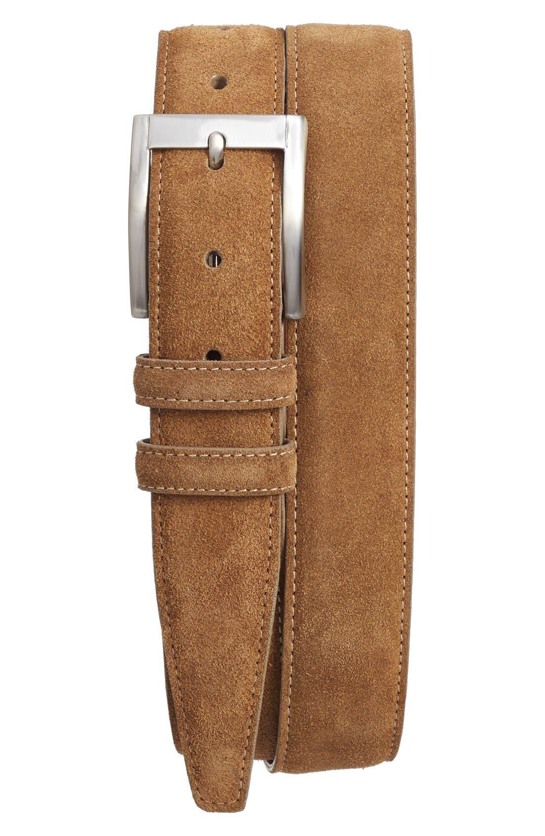 Torino Belts Suede Belt, Whiskey