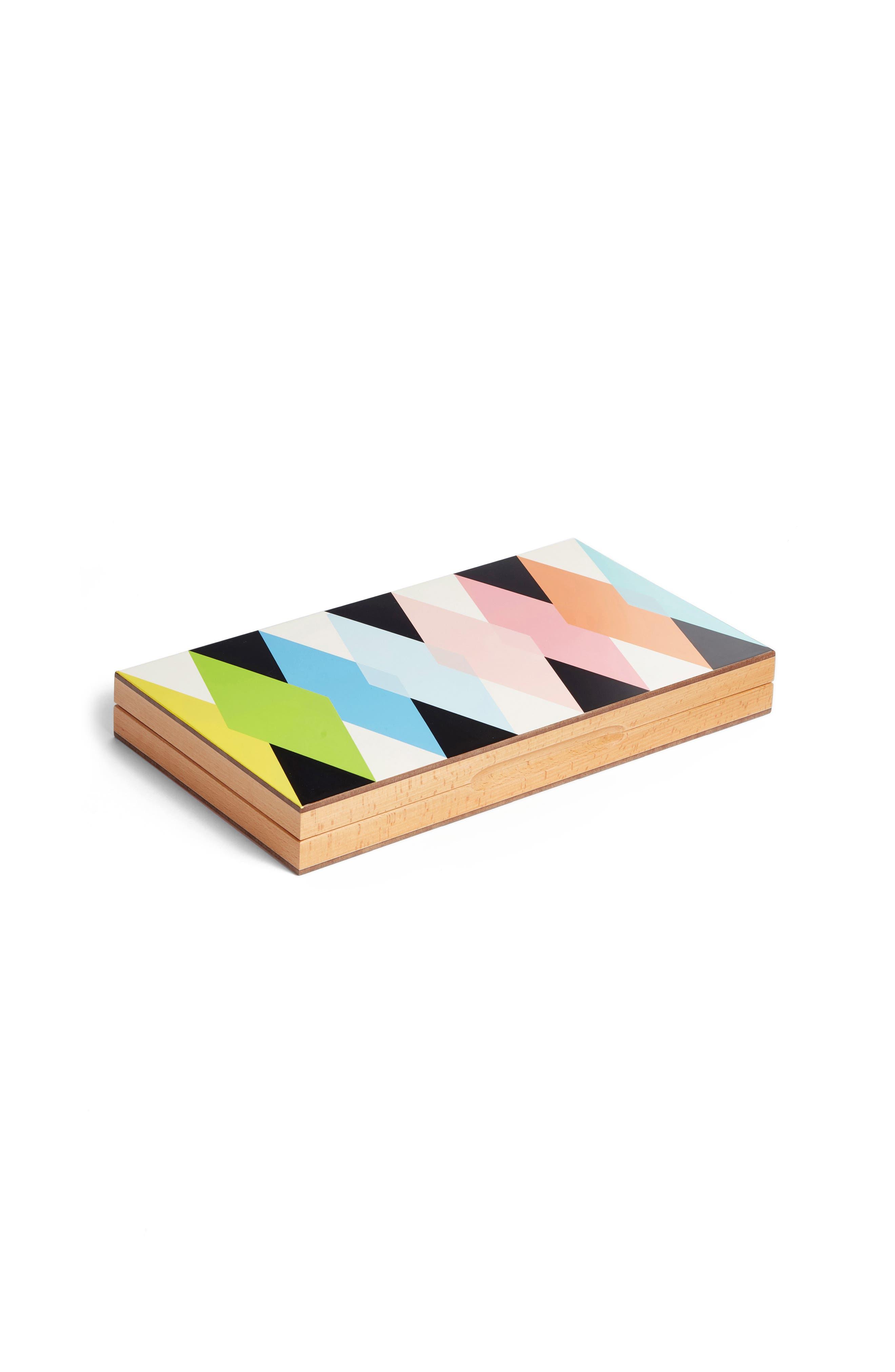 Colorful Backgammon Set, Main, color, 960