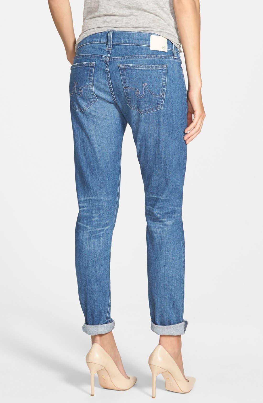 'The Nikki' Relaxed Skinny Jeans,                             Alternate thumbnail 4, color,                             400