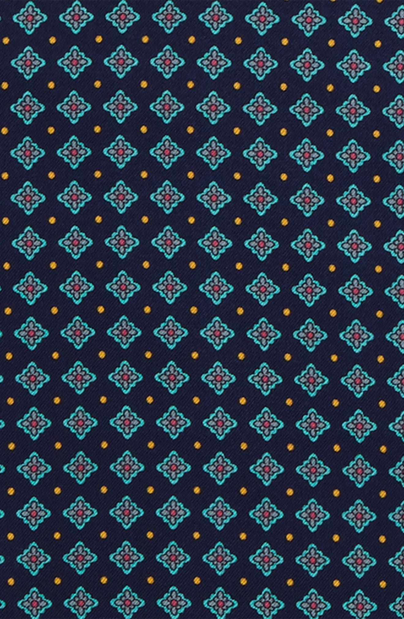 Medallion Silk Pocket Square,                             Alternate thumbnail 3, color,                             400