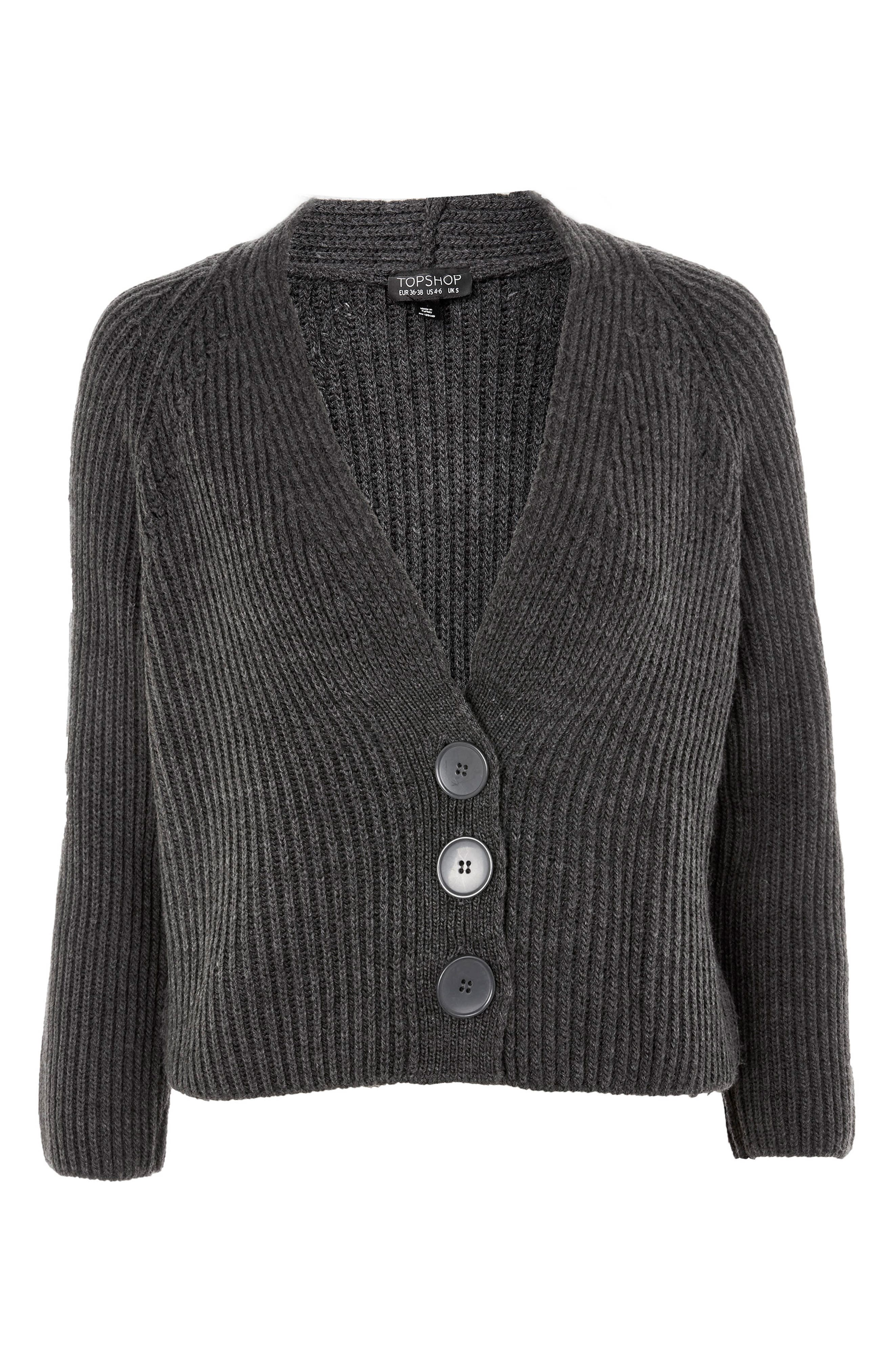 Ribbed Raglan Cardigan,                             Alternate thumbnail 4, color,                             021