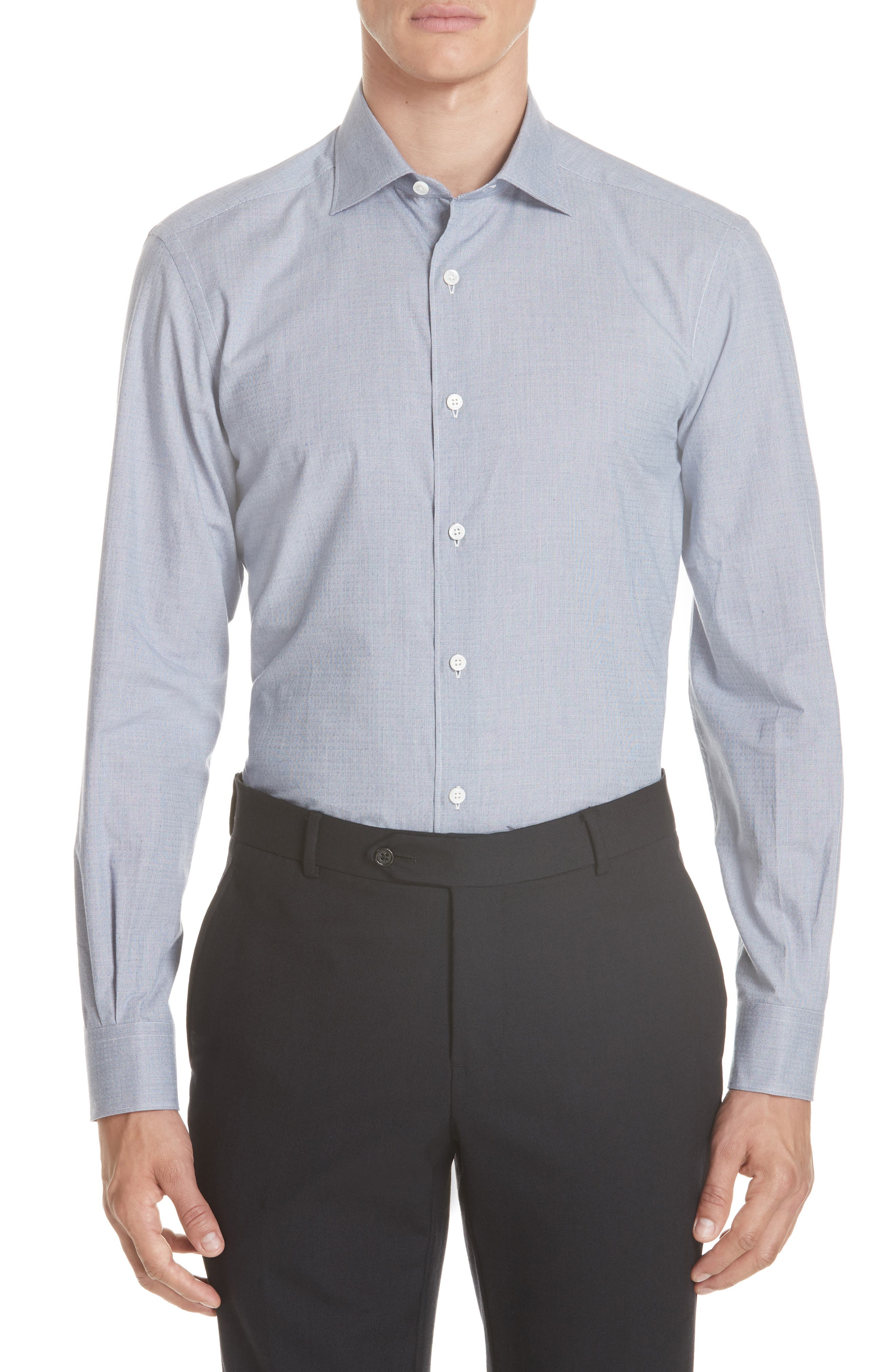 Classic Fit Solid Sport Shirt,                             Main thumbnail 1, color,                             BLUE
