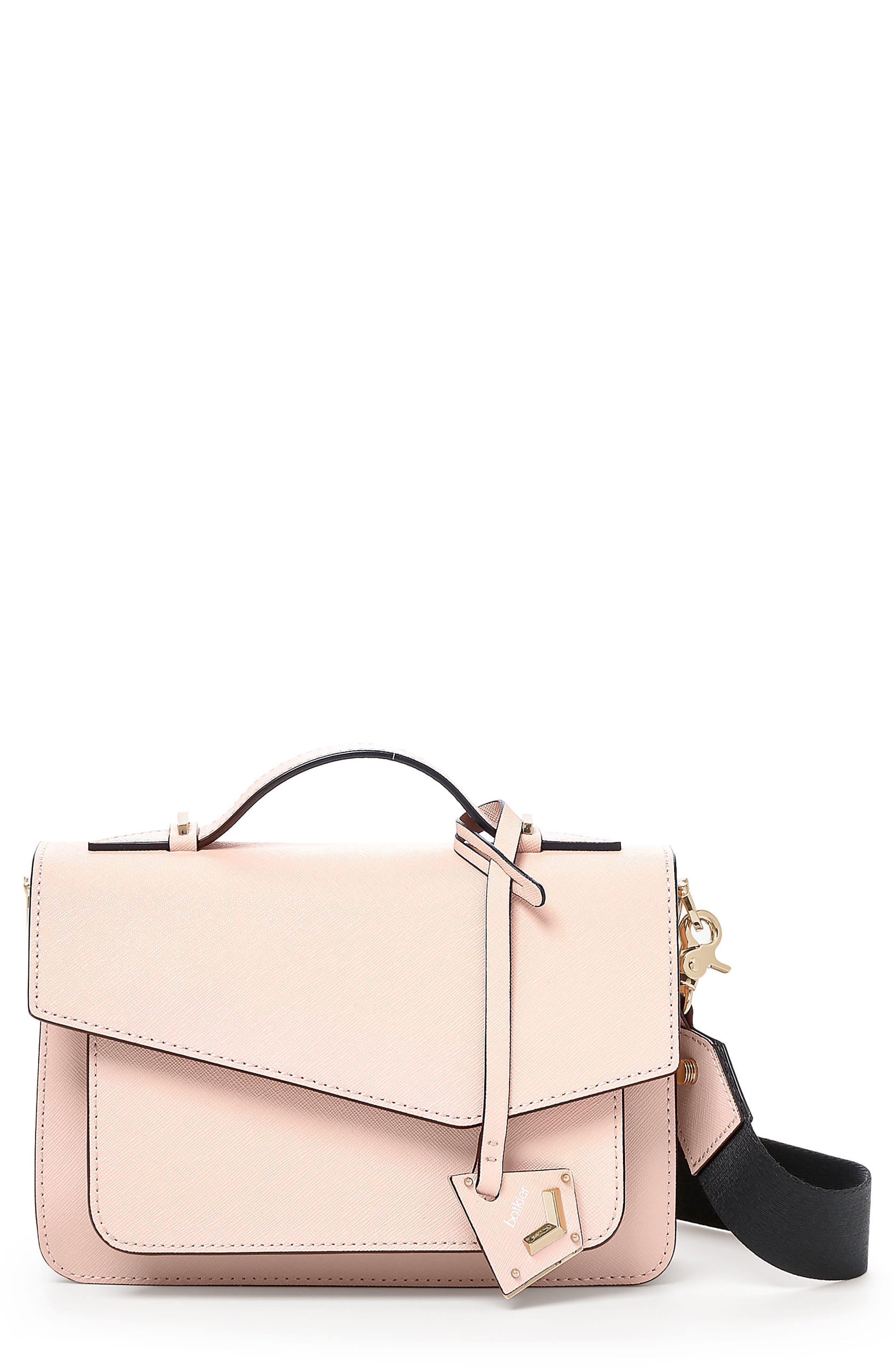 Cobble Hill Leather Crossbody Bag,                         Main,                         color, BLOSSOM