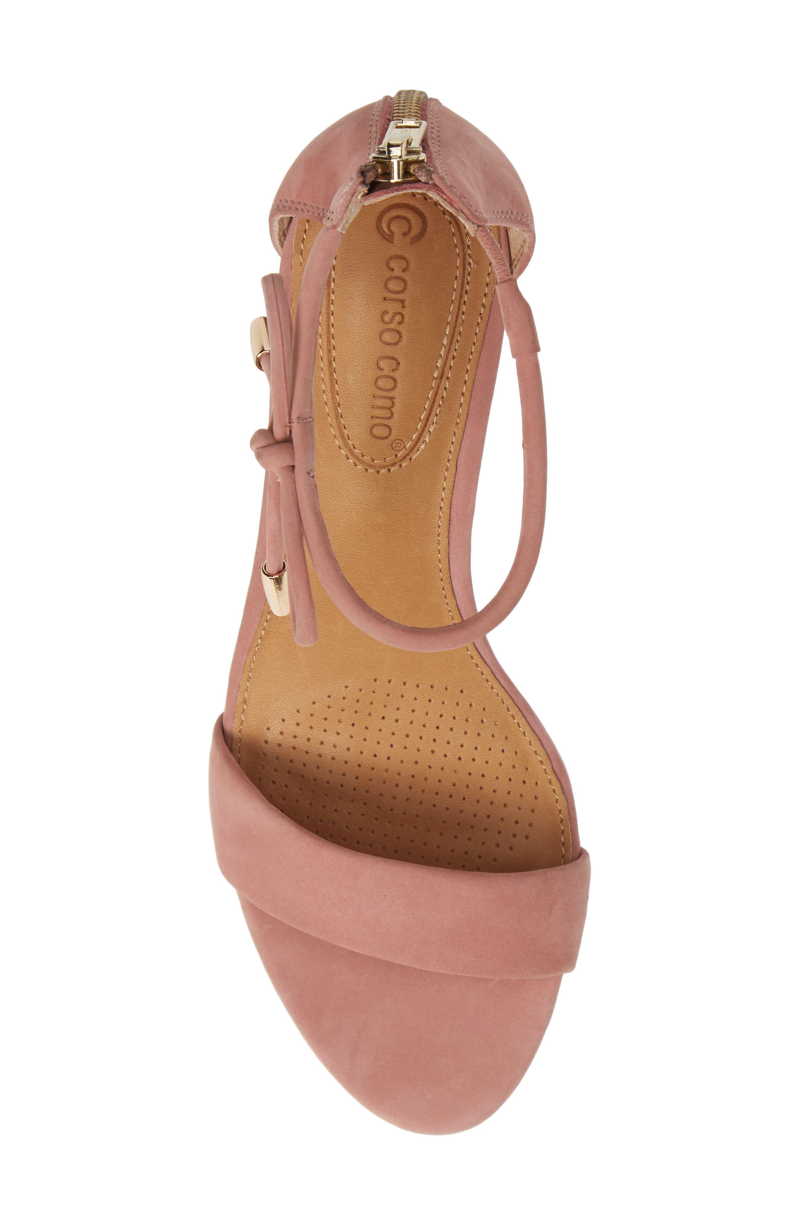 Celebratt Ankle Strap Sandal,                             Alternate thumbnail 5, color,                             OLD ROSE NUBUCK LEATHER