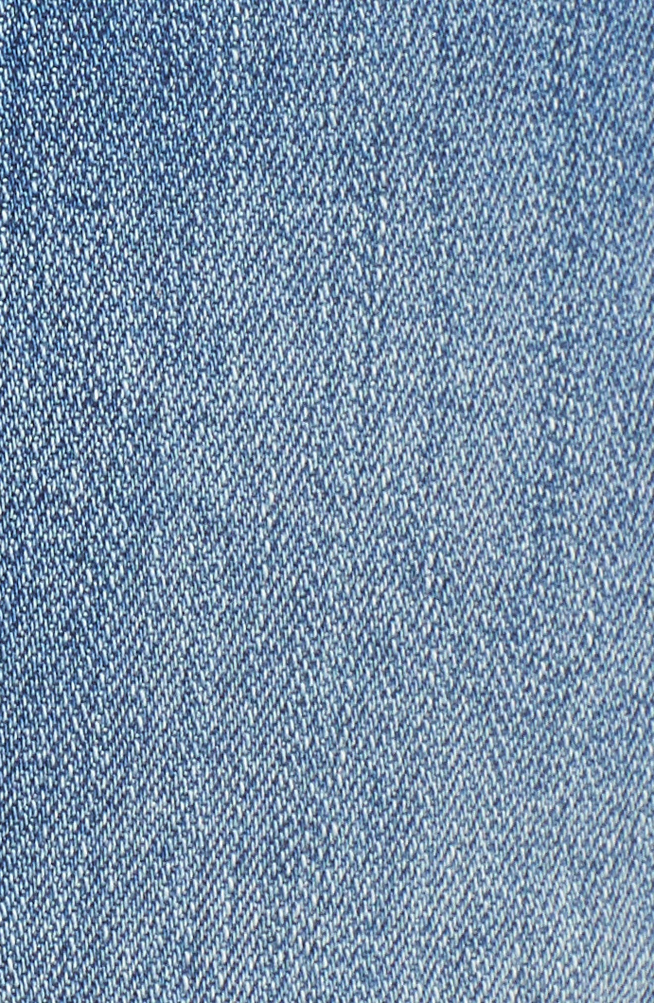 Rosebowl Shadow Pocket Denim Shorts,                             Alternate thumbnail 6, color,                             403