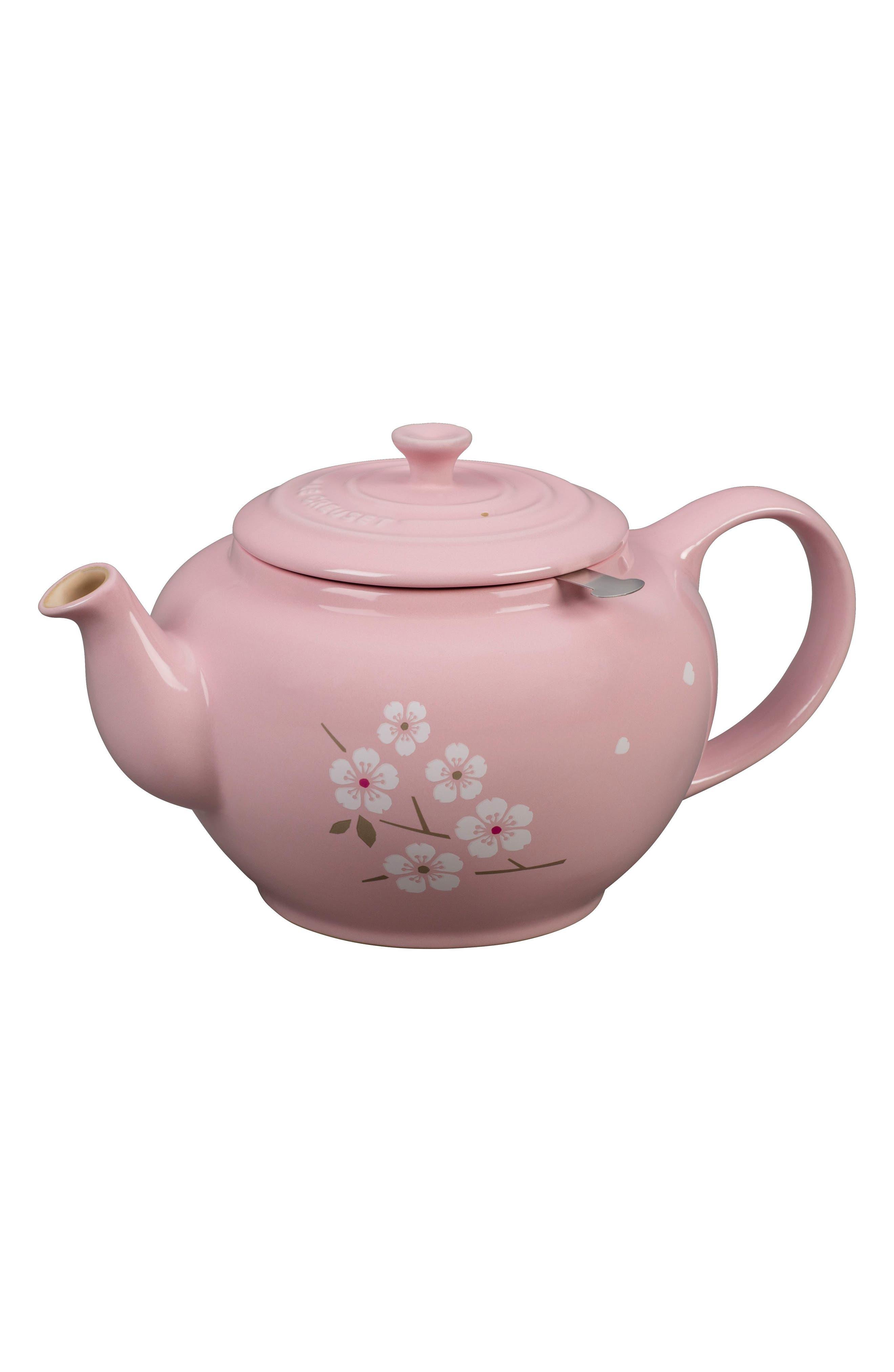 Sakura 1-Quart Stoneware Teapot,                             Alternate thumbnail 4, color,                             650