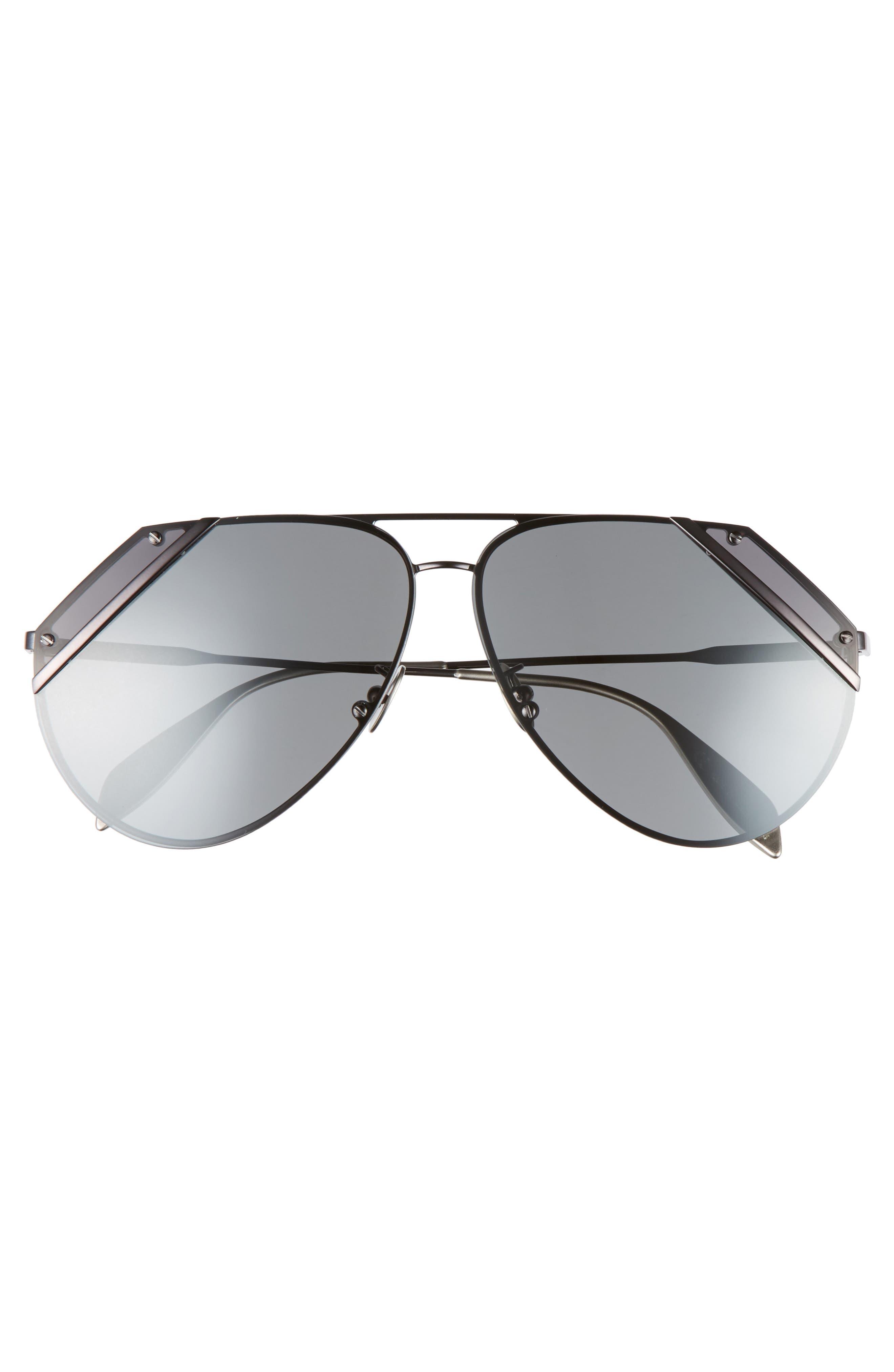 65mm Snip Frame Aviator Sunglasses,                             Alternate thumbnail 6, color,
