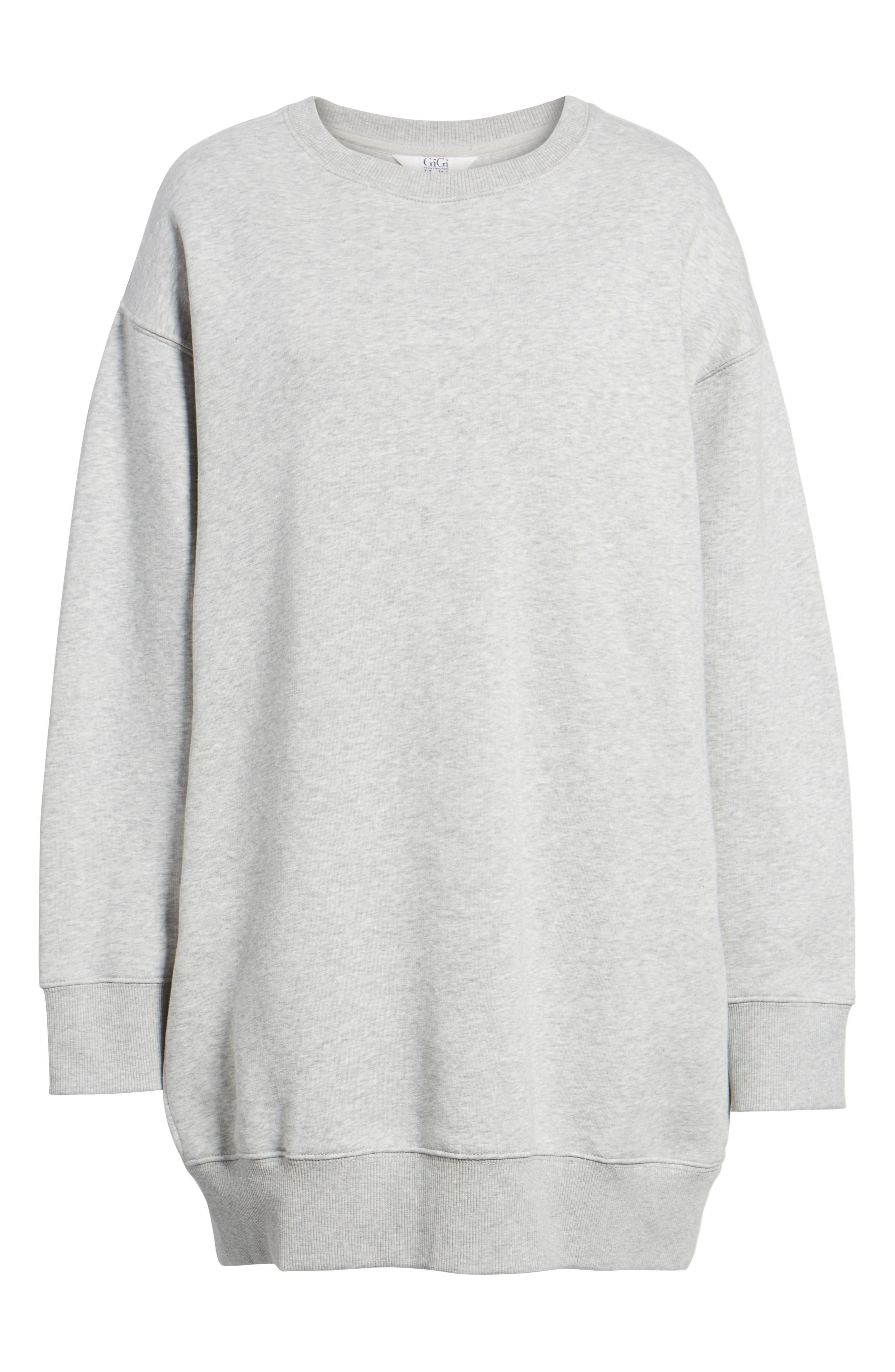x Gigi Hadid Sweatshirt Dress,                             Alternate thumbnail 6, color,                             020