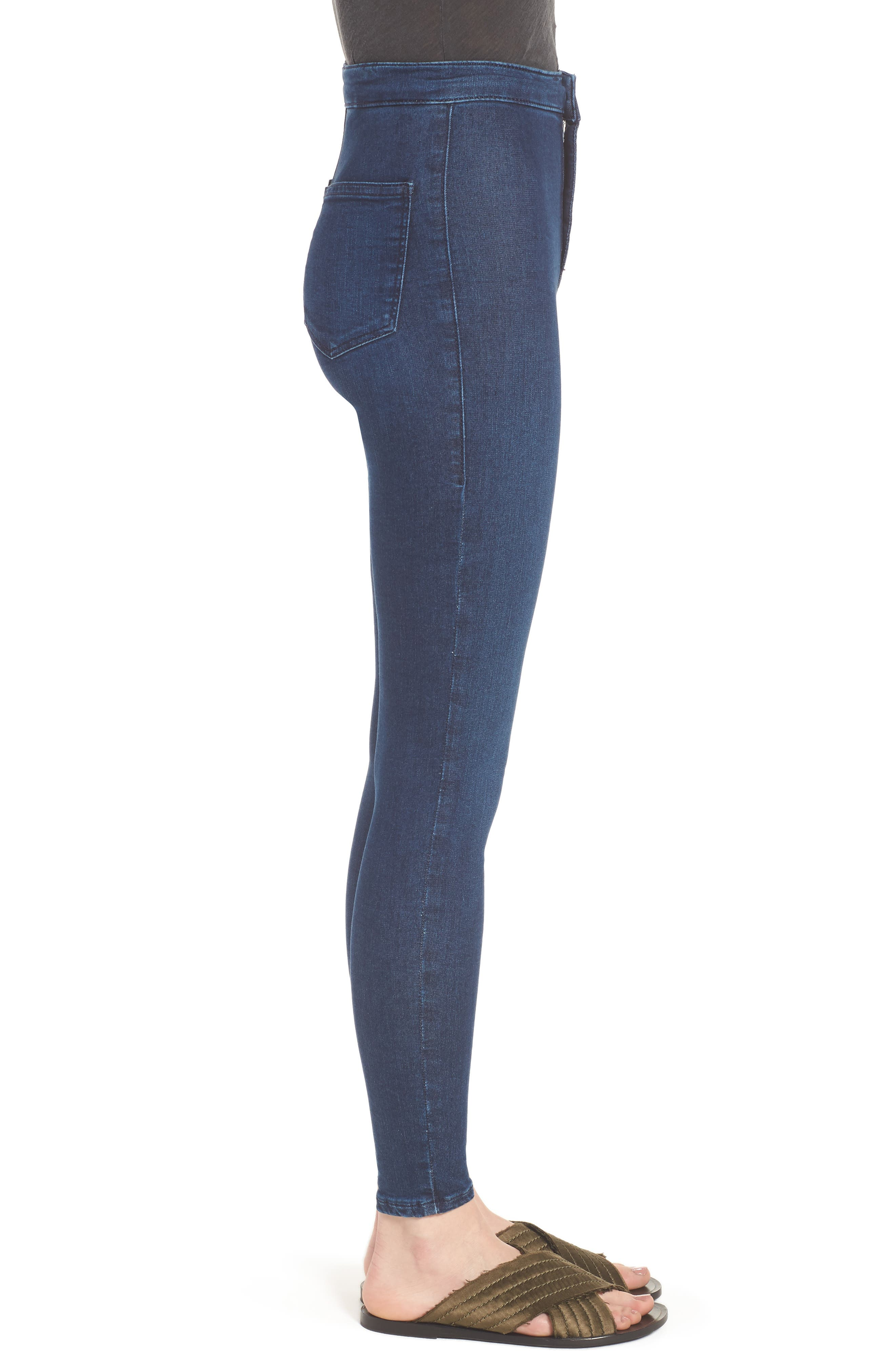 Moto 'Joni' Super Skinny Jeans,                             Alternate thumbnail 3, color,                             400