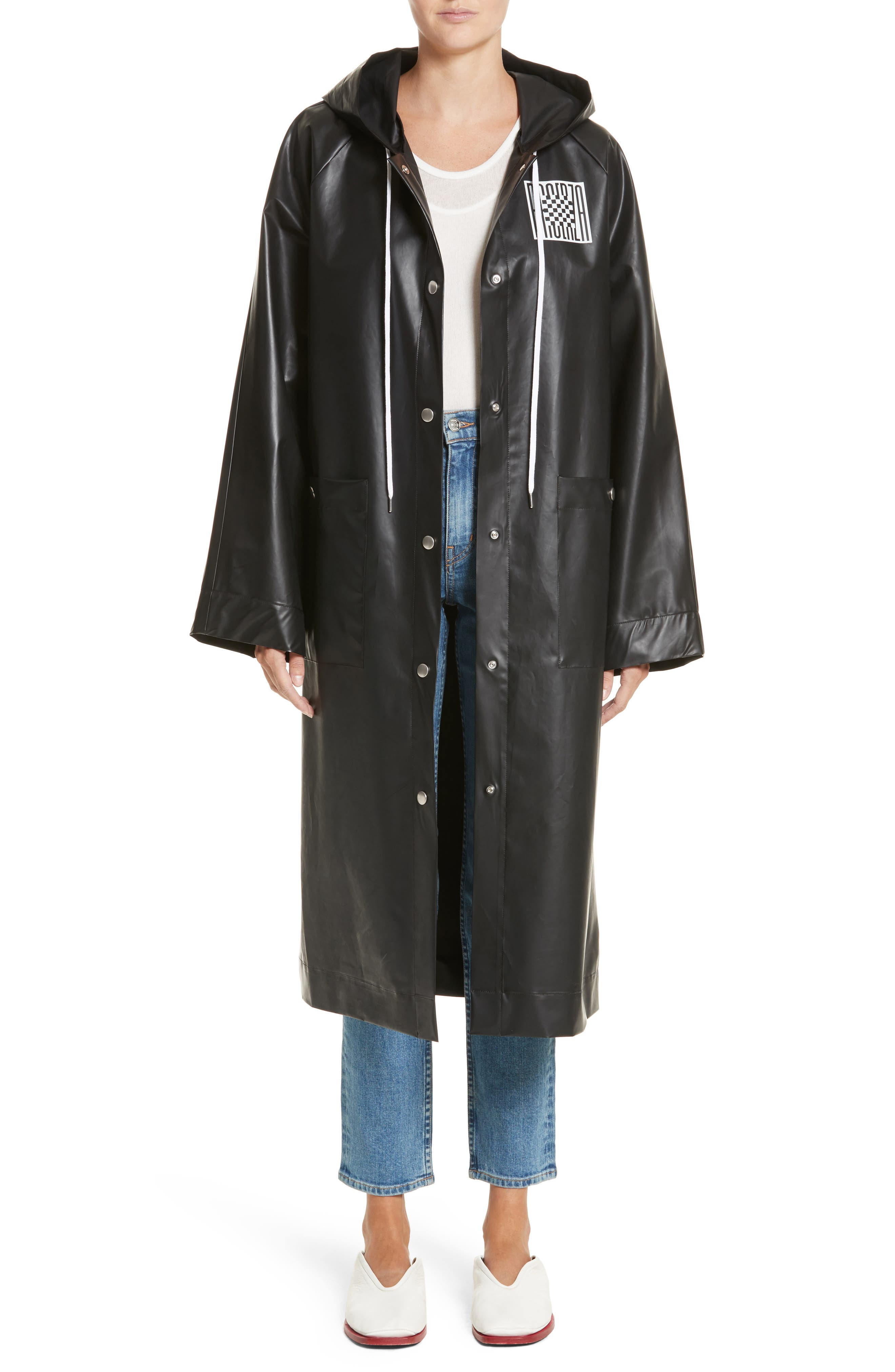 PSWL Graphic Raincoat,                         Main,                         color, 001