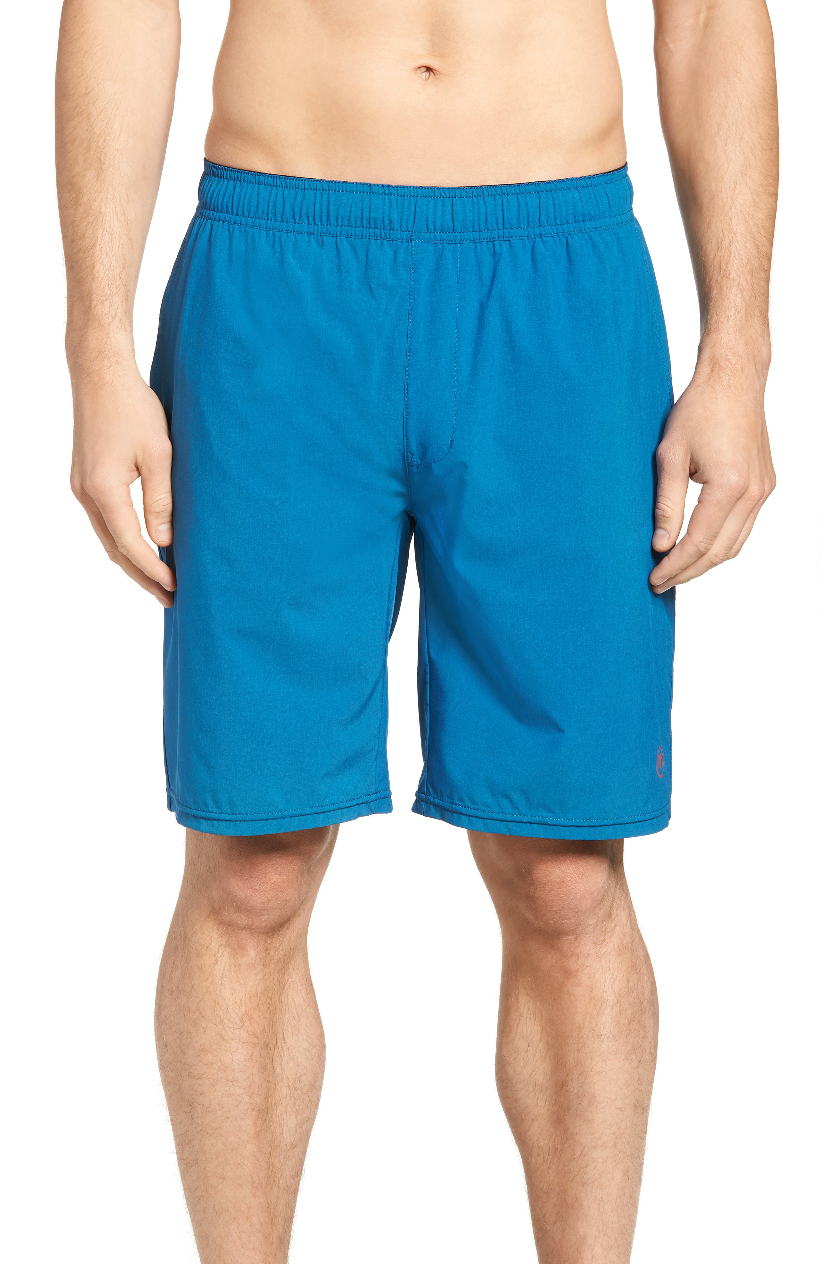 The Pace Performance Shorts,                             Main thumbnail 1, color,                             HEATHER FRENCH BLUE