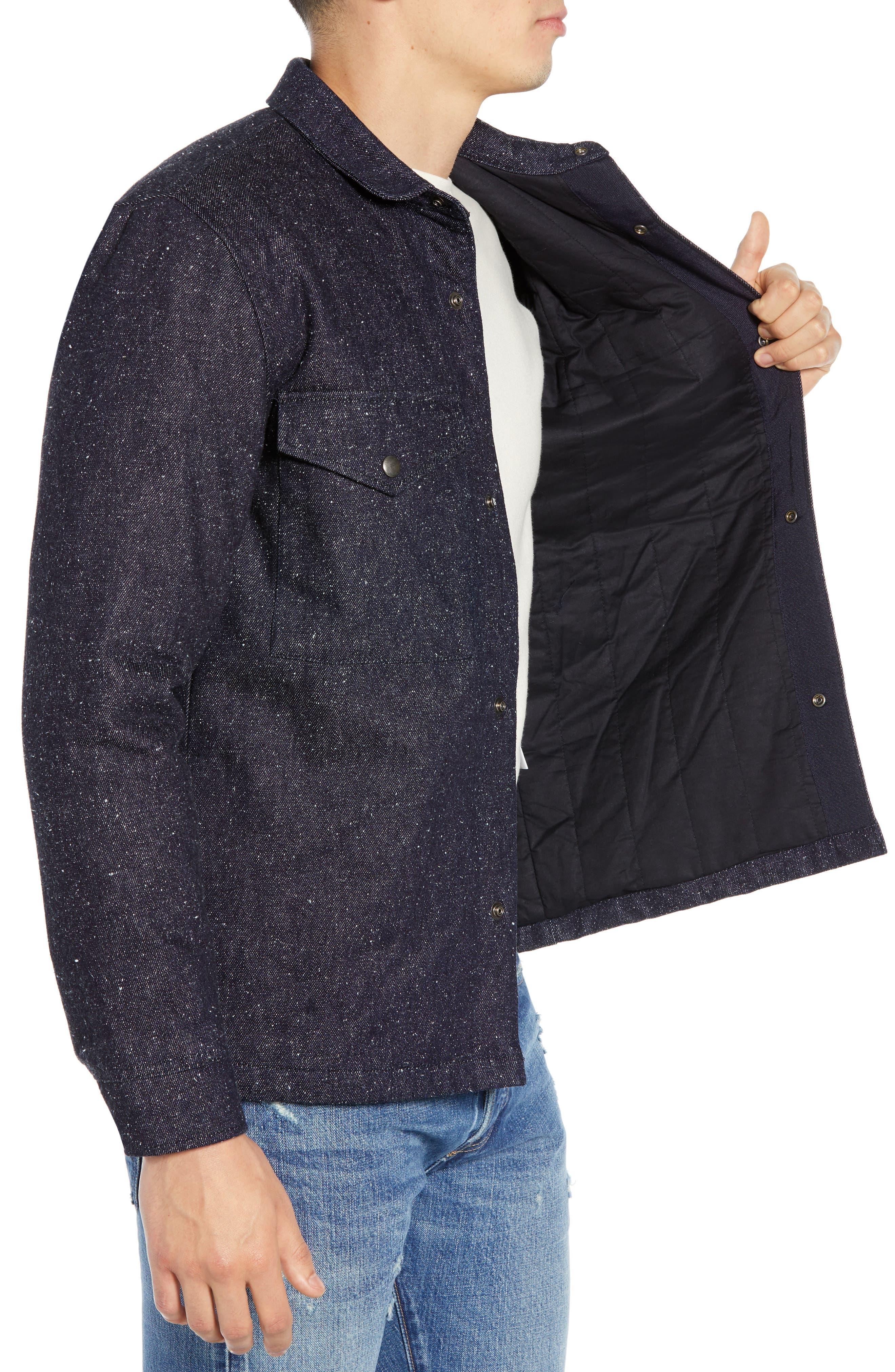 Nep Shirt Jacket,                             Alternate thumbnail 3, color,                             DENIM BLUES