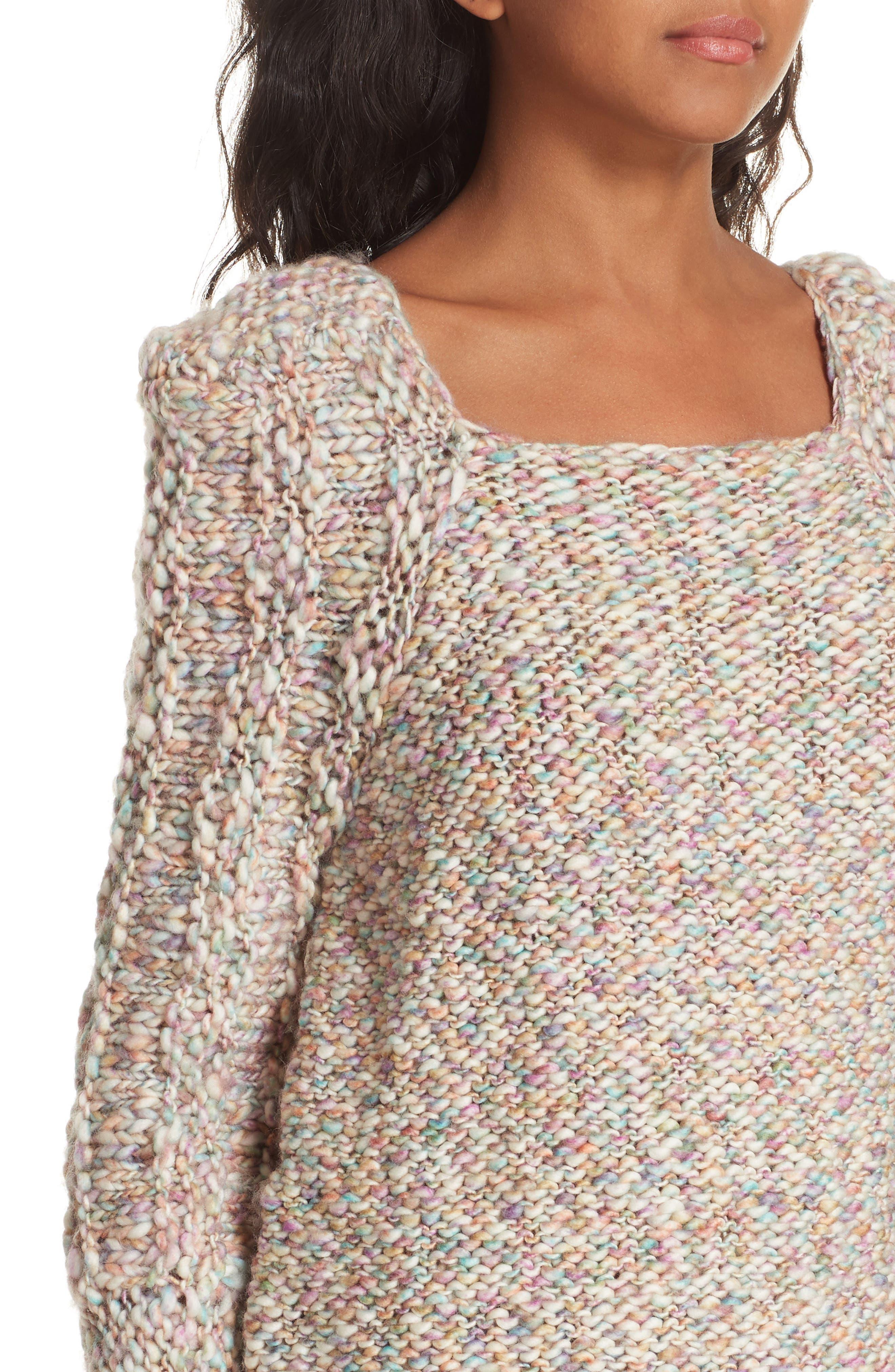 Joplin Wool Sweater,                             Alternate thumbnail 4, color,                             PASTEL MULTI