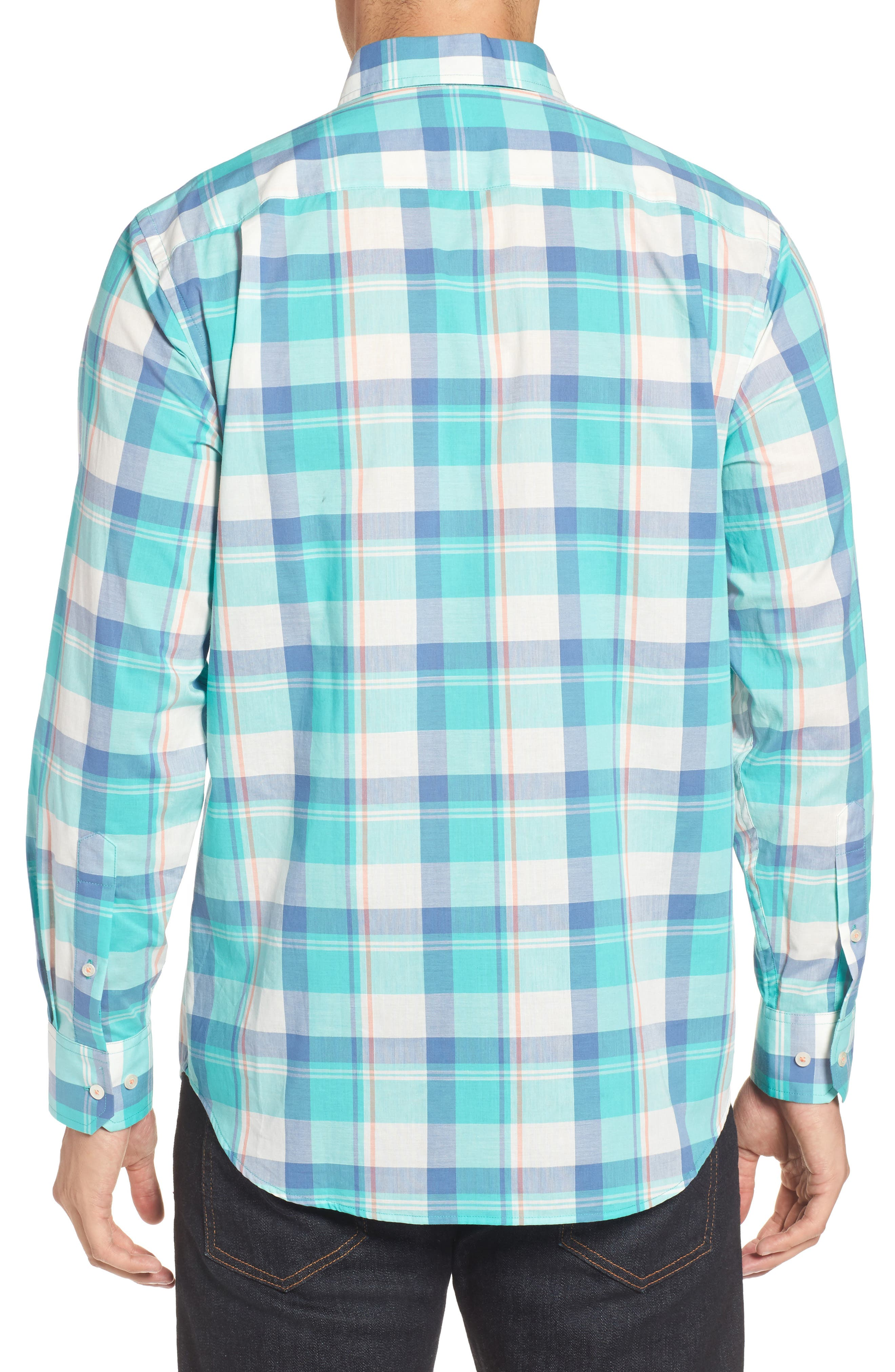Green Cay Plaid Sport Shirt,                             Alternate thumbnail 2, color,