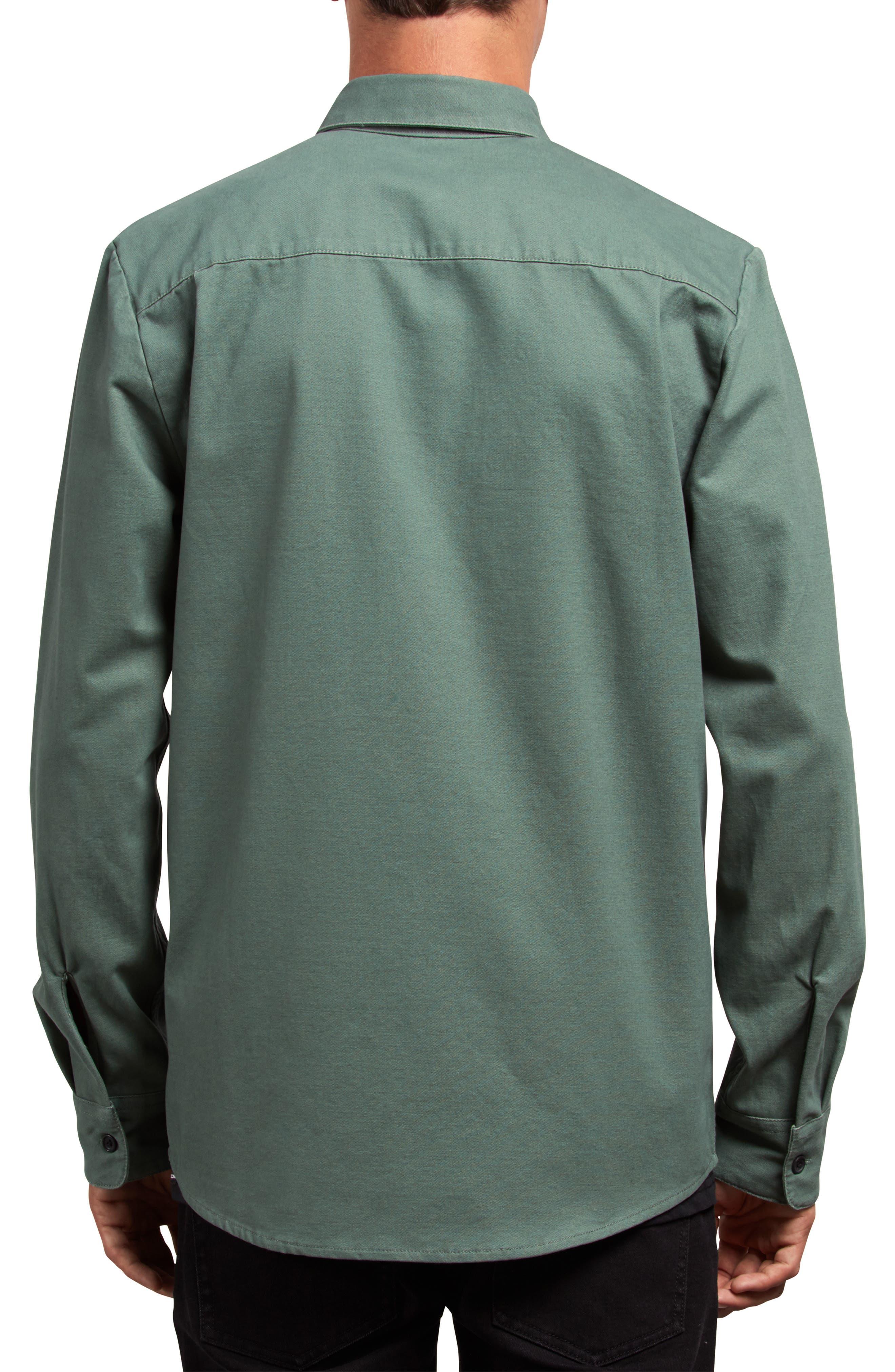 Huckster Heavyweight Sport Shirt,                             Alternate thumbnail 2, color,                             PINE