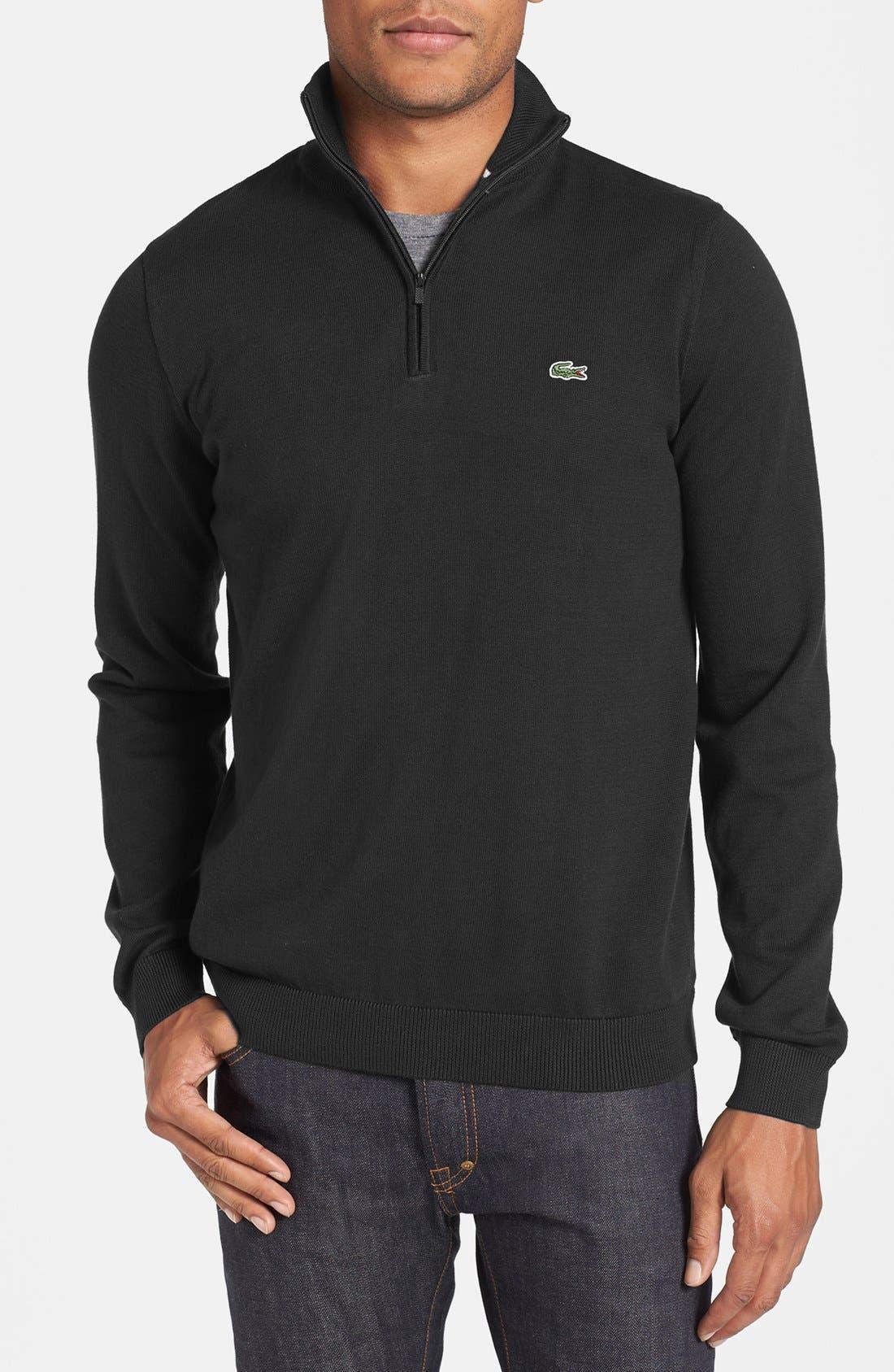 Half Zip Sweater,                             Main thumbnail 1, color,                             001