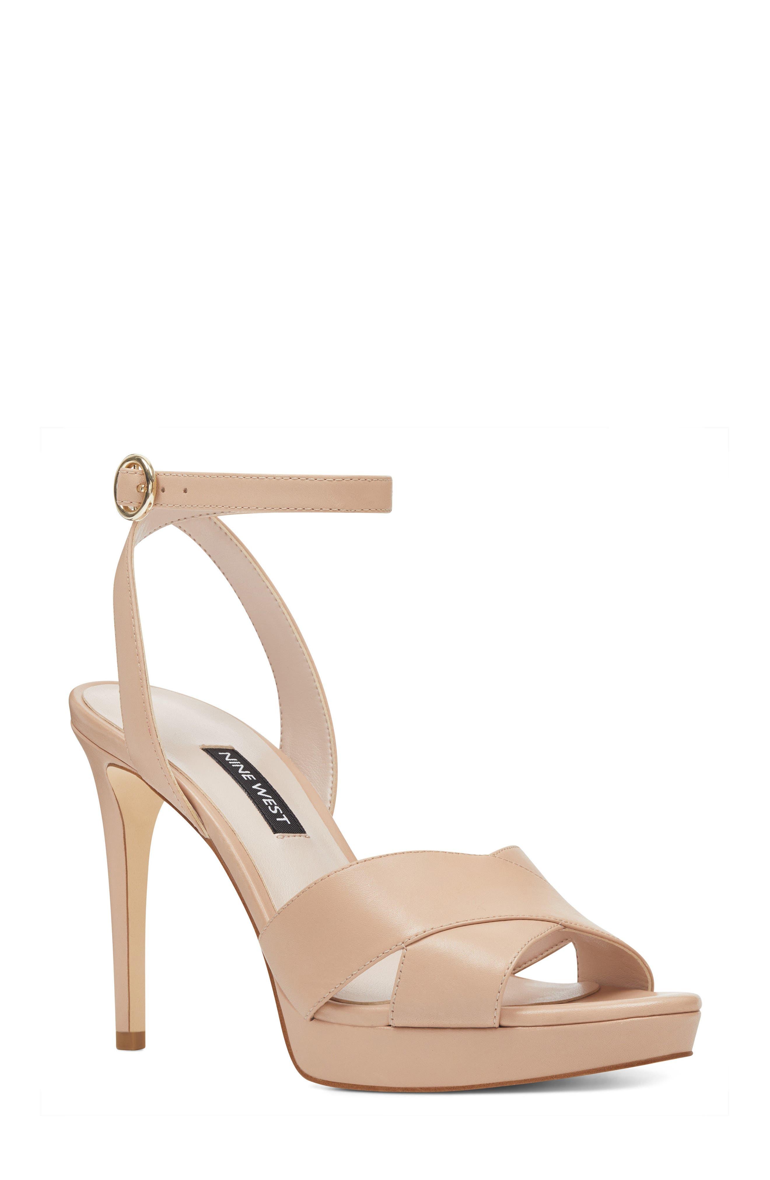 Quisha Ankle Strap Sandal,                         Main,                         color, LIGHT NATURAL LEATHER