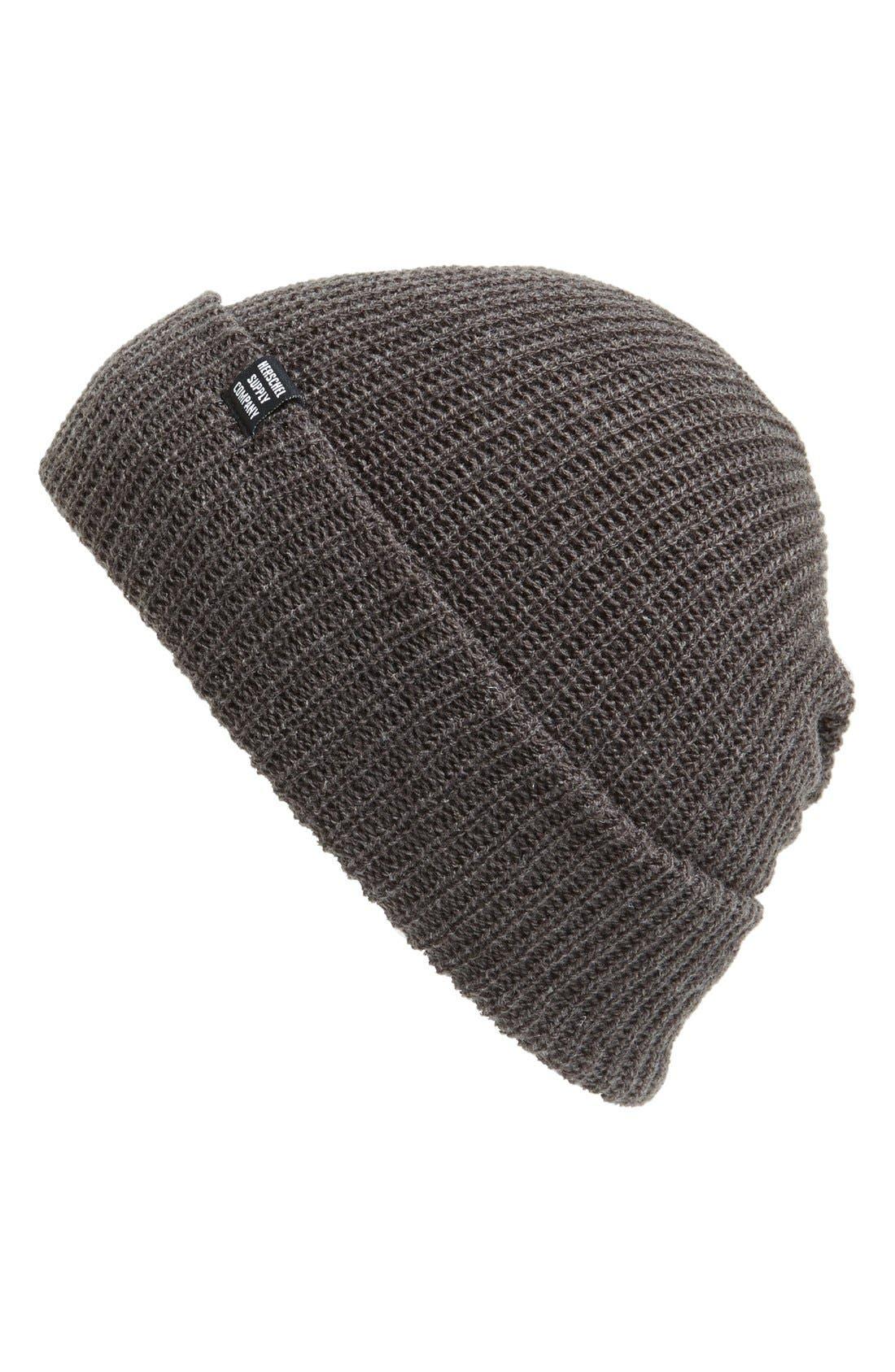 'Quartz' Solid Knit Cap,                         Main,                         color,