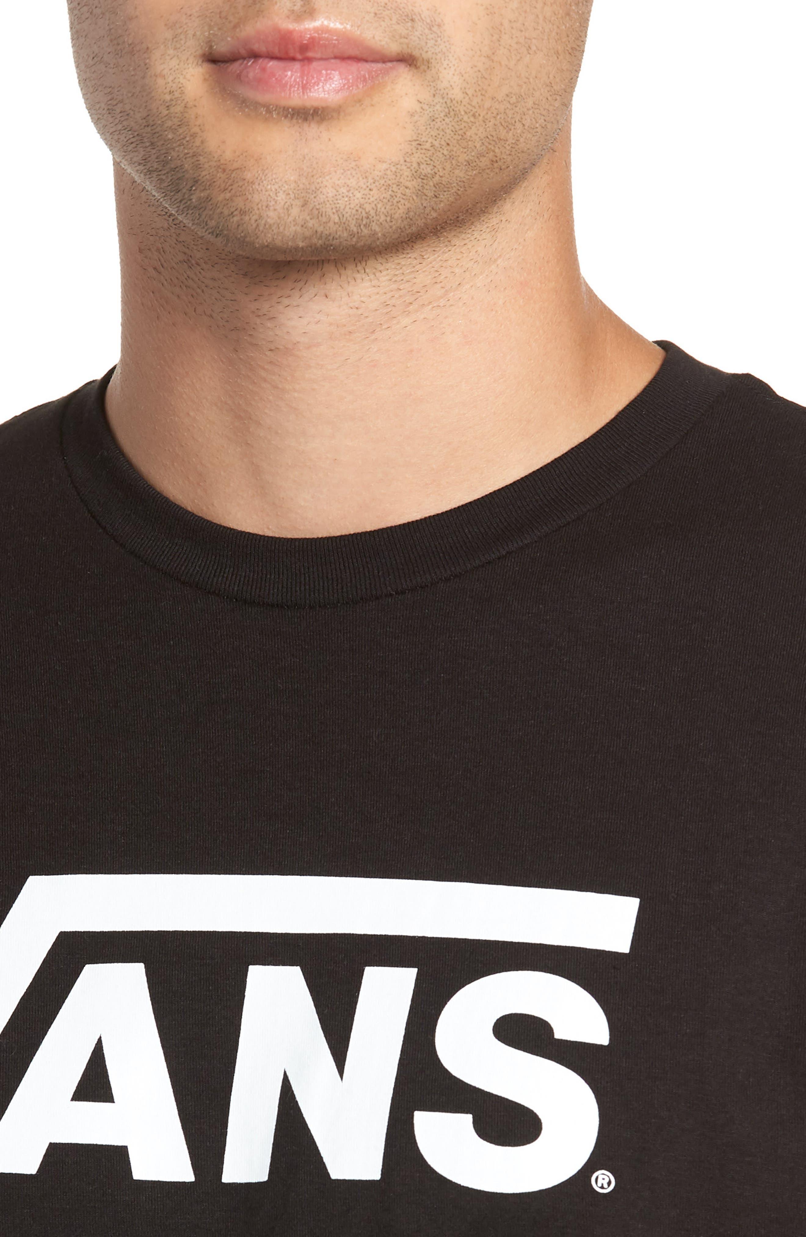 Classic Logo T-Shirt,                             Alternate thumbnail 4, color,                             BLACK/ WHITE