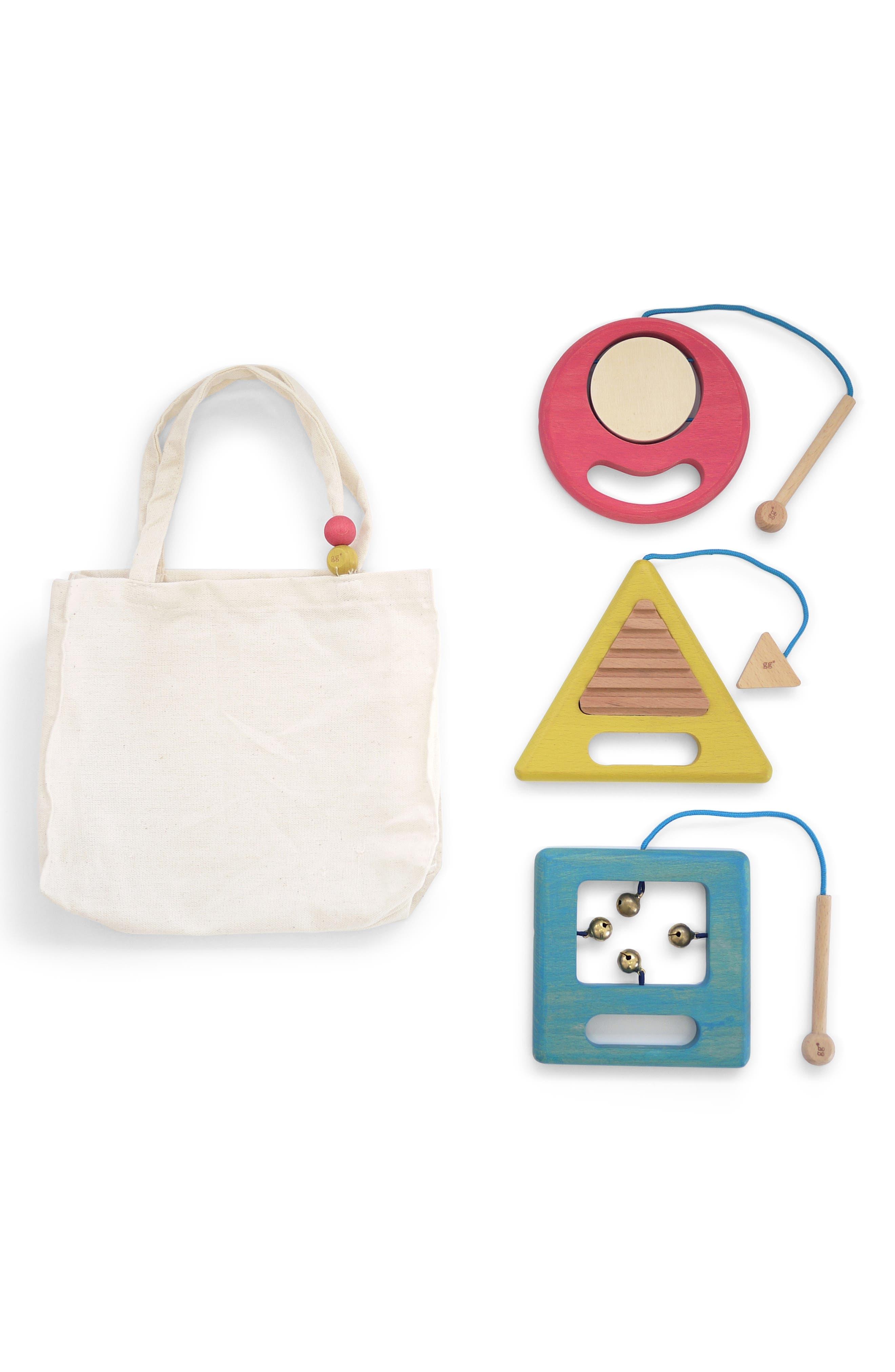 Toddler Kukkia Gakki Set Of 3 Wooden Instruments
