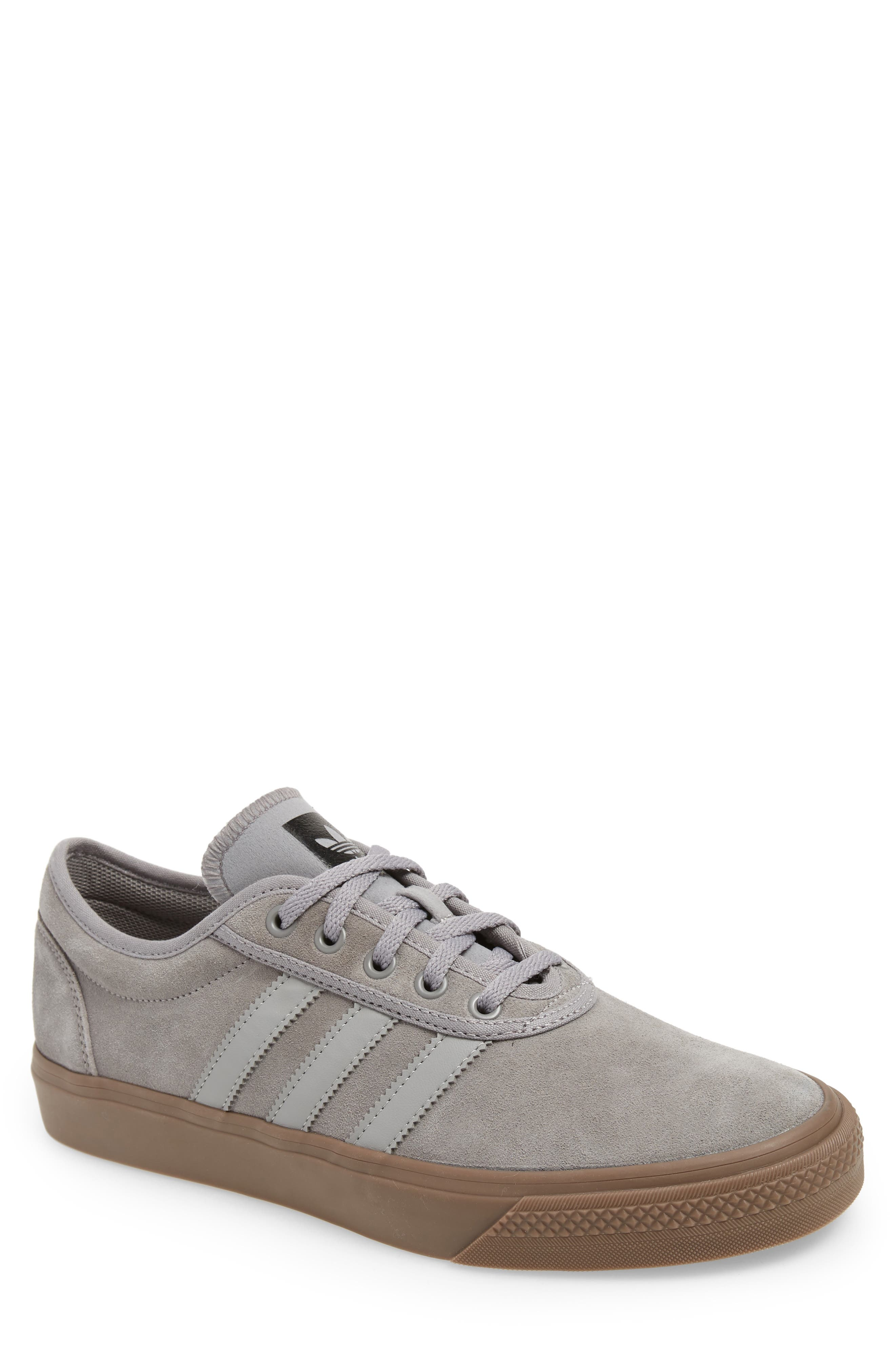 Adiease Skate Sneaker,                         Main,                         color, SOLID GREY/ SOLID GREY/ GUM