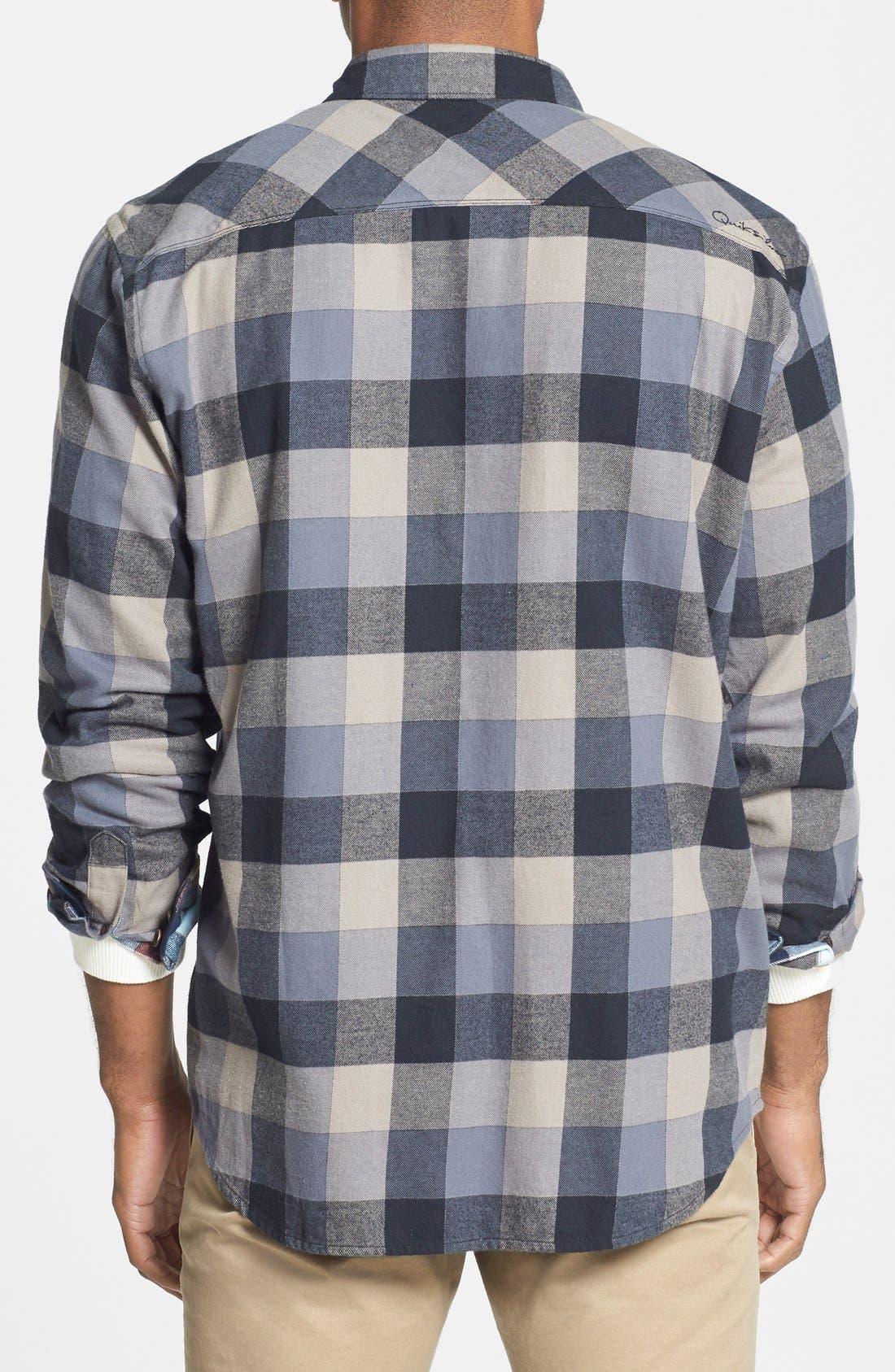 Quiksilver 'Aikens Lake' Flannel Shirt,                             Alternate thumbnail 4, color,                             002