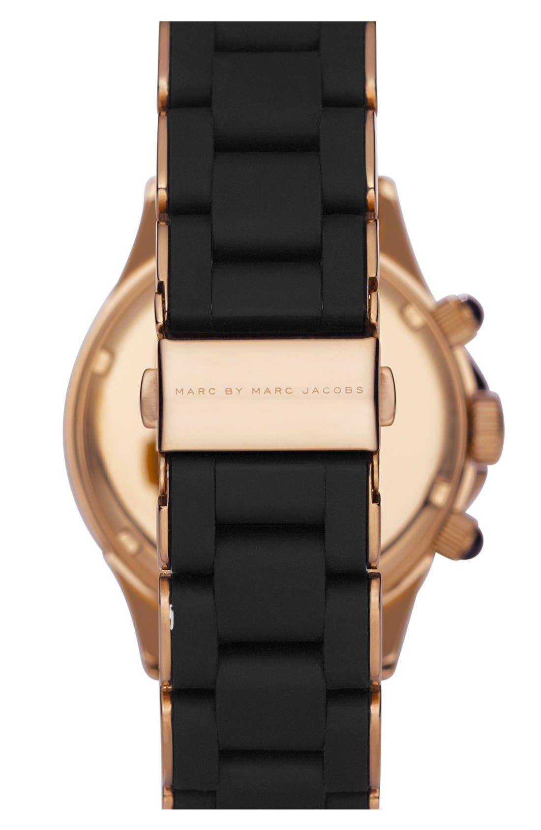 'Rock' Chronograph Silicone Bracelet Watch, 40mm,                             Alternate thumbnail 16, color,