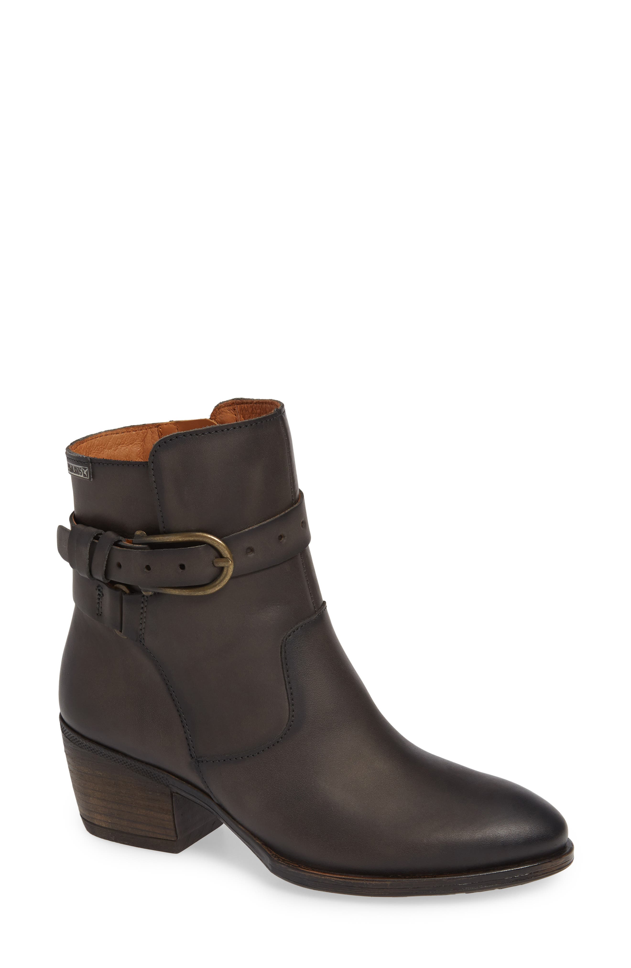Baqueira Bootie,                             Main thumbnail 1, color,                             LEAD LEATHER