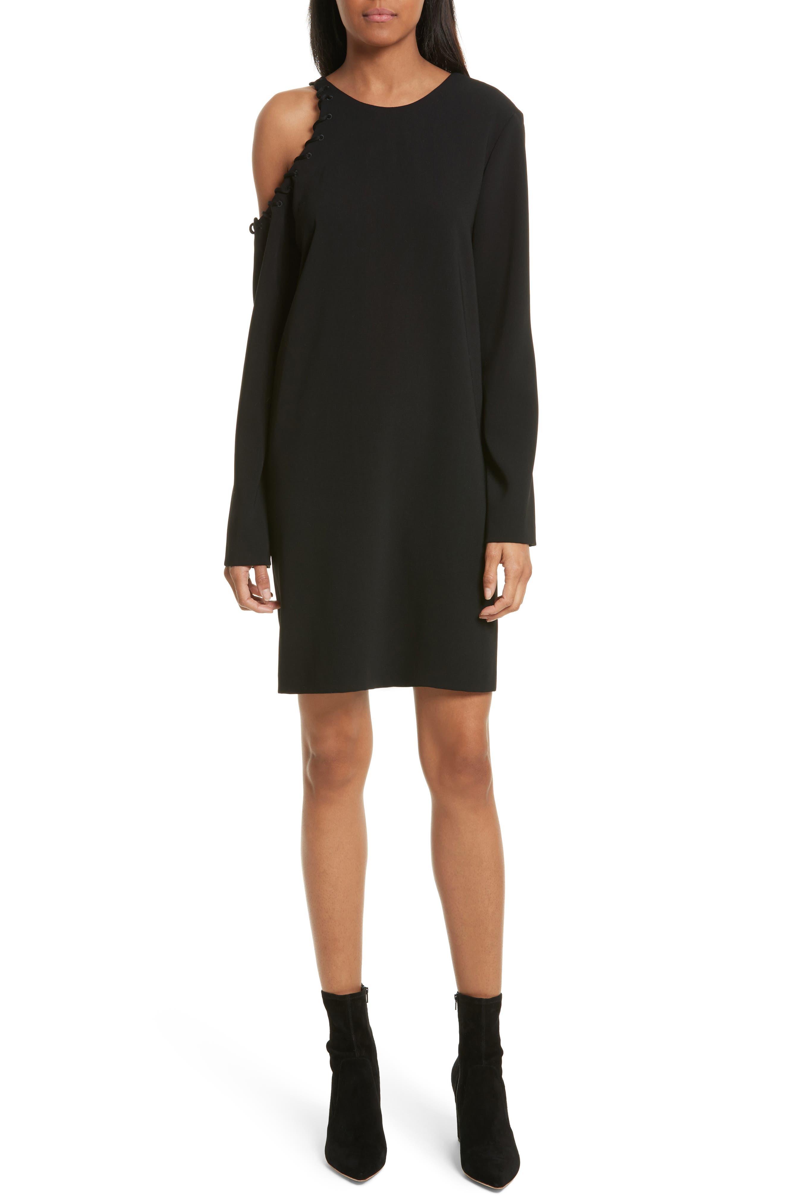 Breen Cold Shoulder Dress,                             Main thumbnail 1, color,                             001