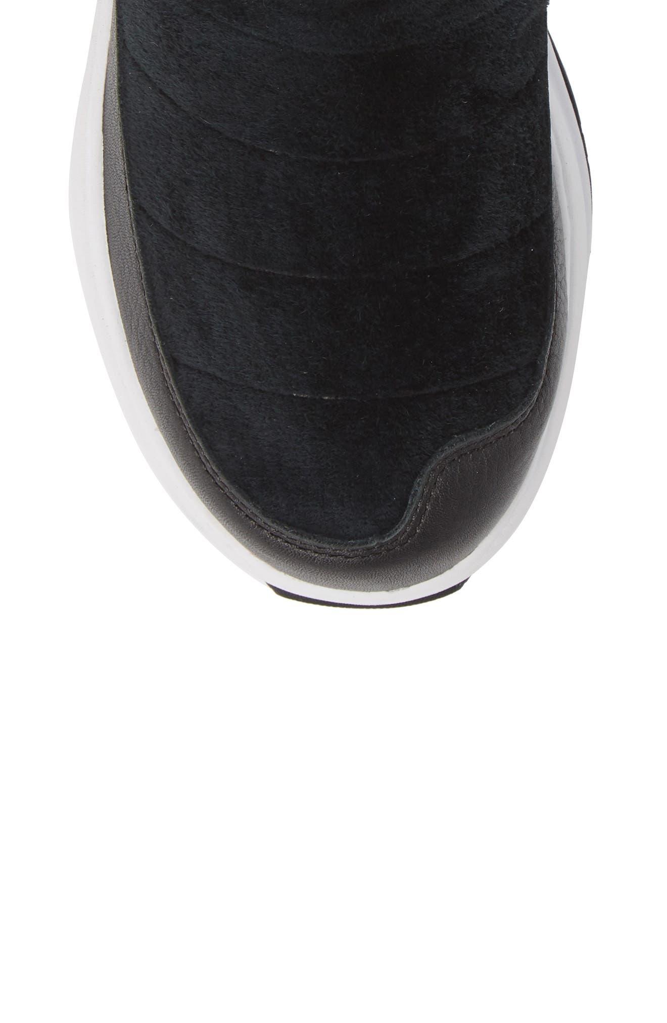 Ozone Park Waterproof Boot,                             Alternate thumbnail 5, color,                             BLACK/ WHITE