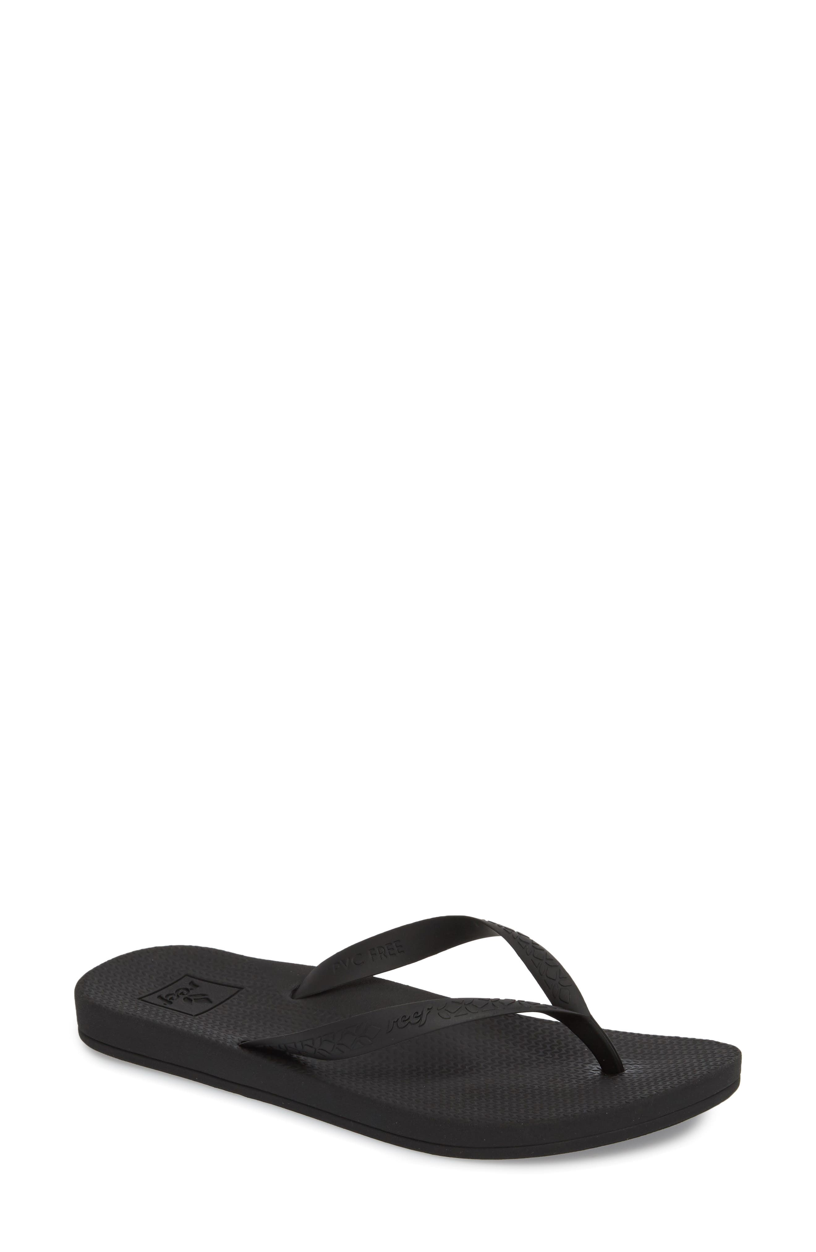 Escape Lux Flip Flop,                             Main thumbnail 1, color,                             BLACK