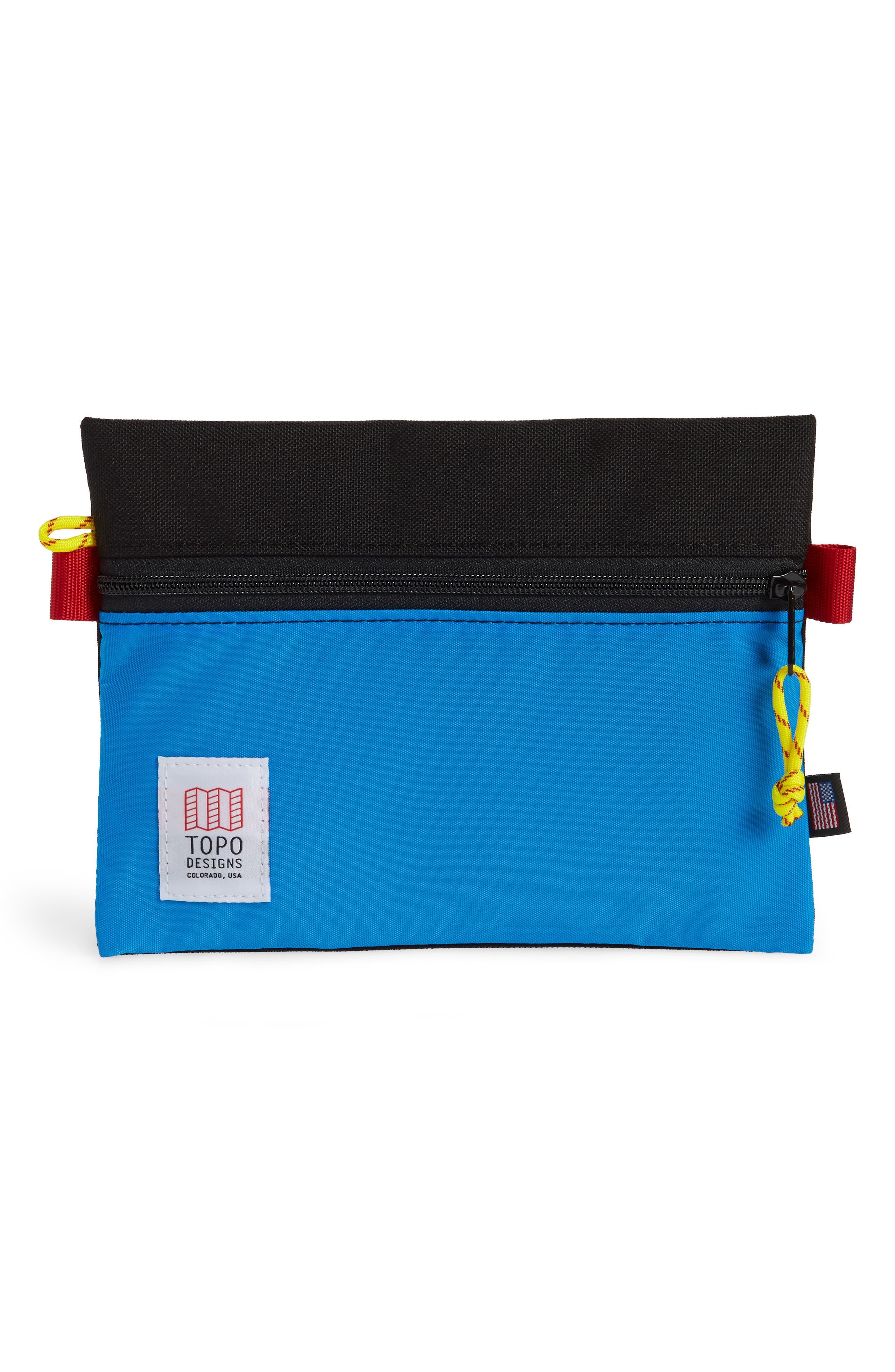 TopoDesigns Accessory Bag,                         Main,                         color, BLACK/ ROYAL