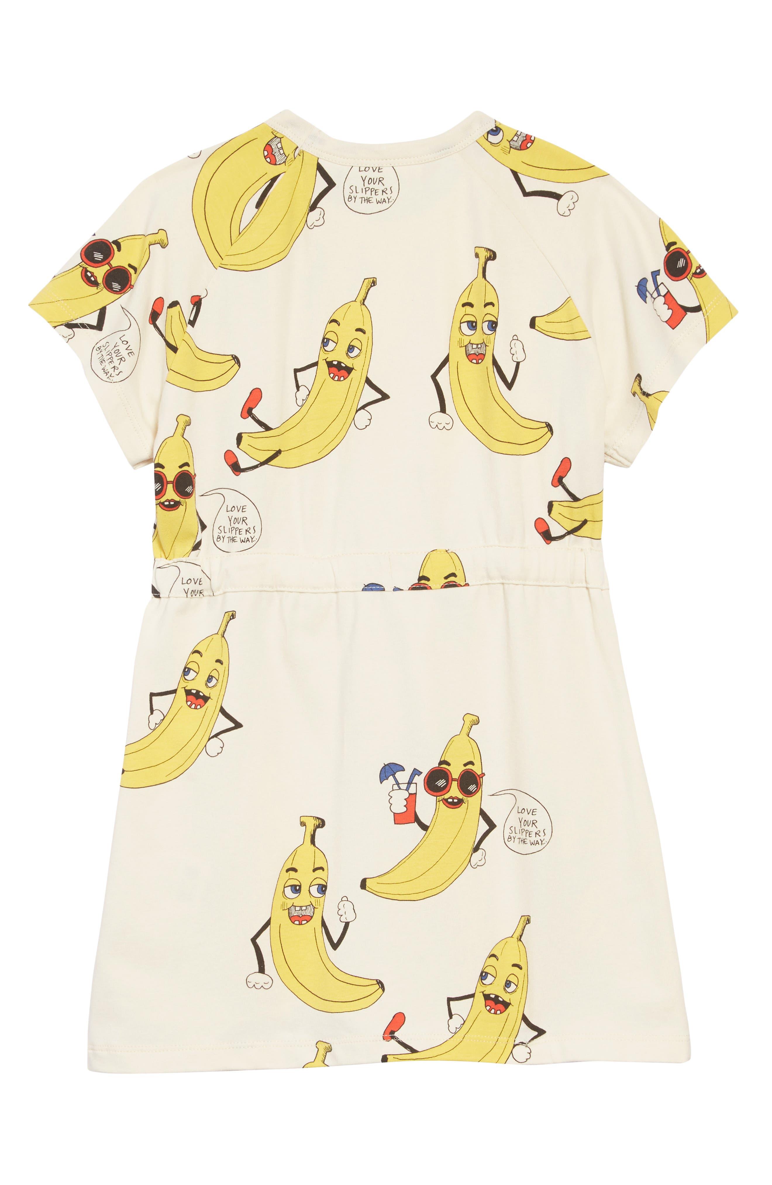 Banana T-Shirt Dress,                             Alternate thumbnail 2, color,                             OFFWHITE
