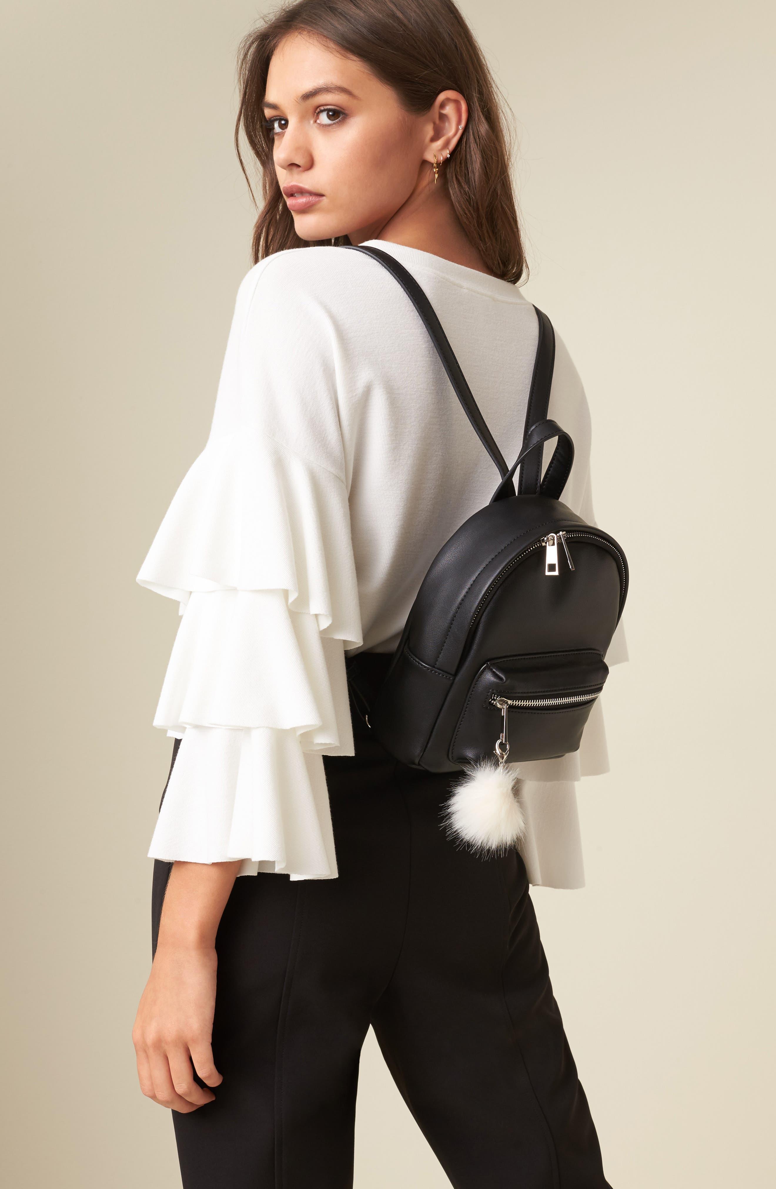 Faux Leather Mini Backpack,                             Alternate thumbnail 49, color,
