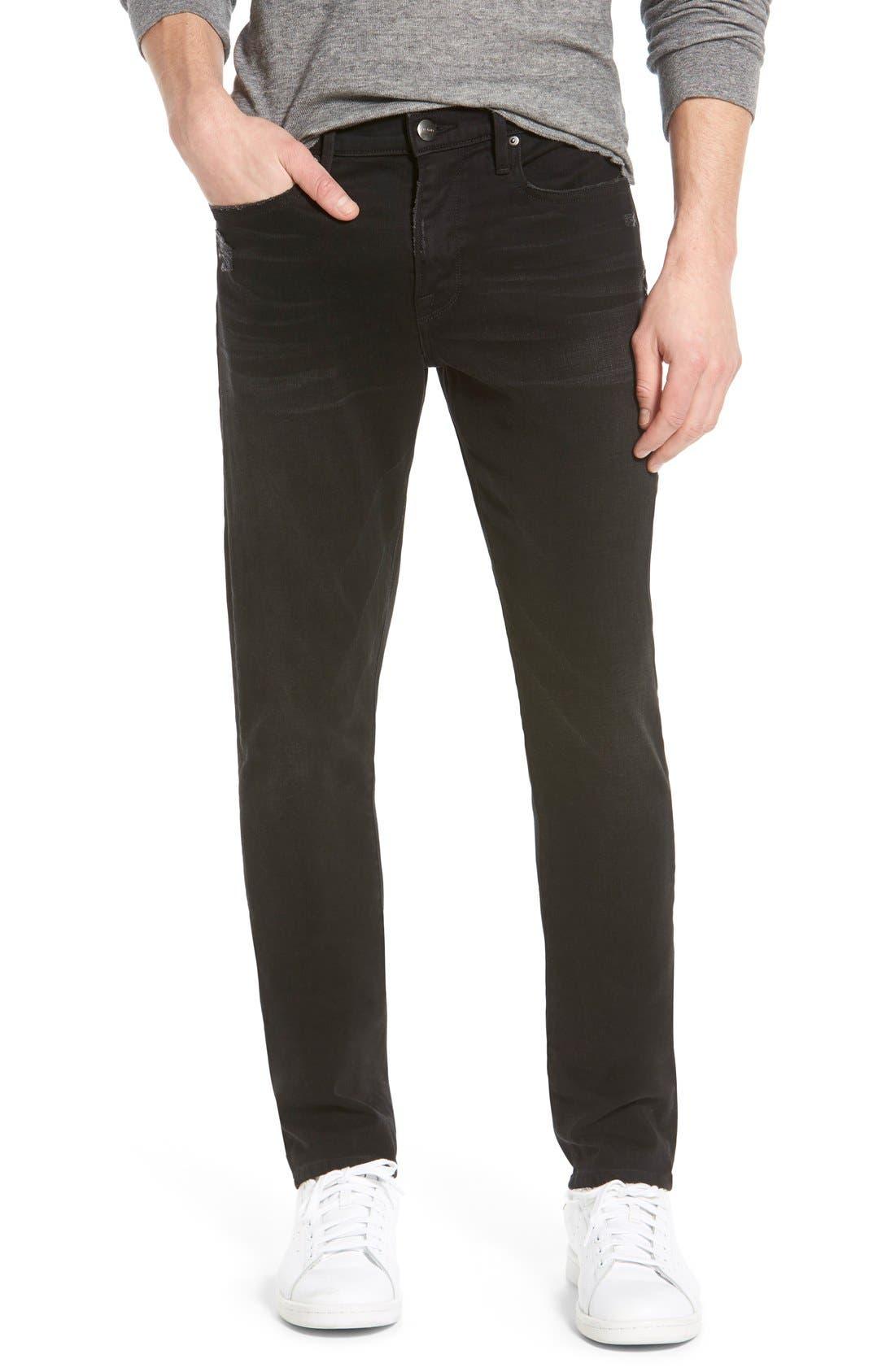 'L'Homme' Slim Fit Jeans,                             Main thumbnail 1, color,                             001