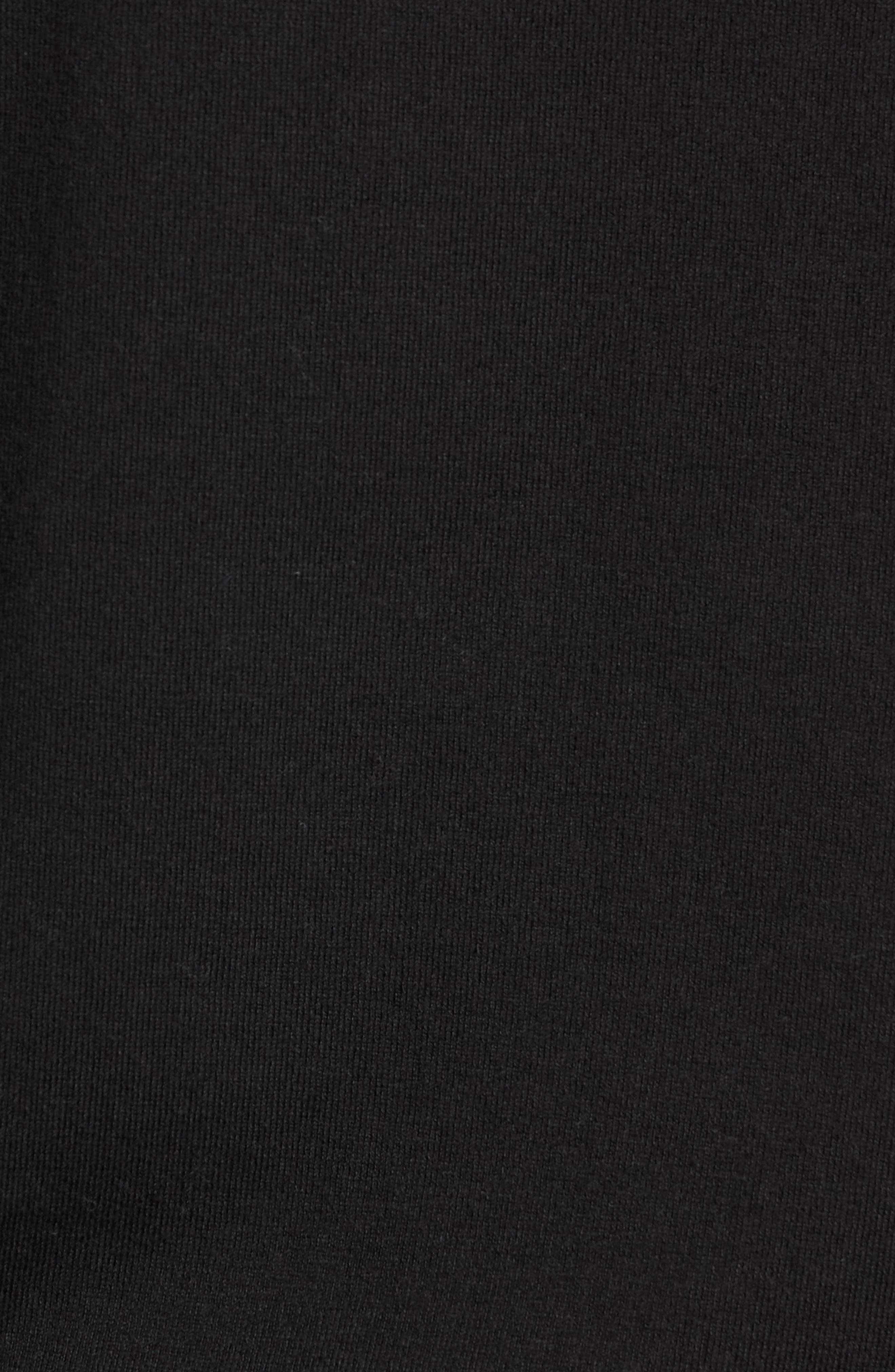 Regular Fit Stretch Cotton Crewneck Sweater,                             Alternate thumbnail 5, color,                             BLACK