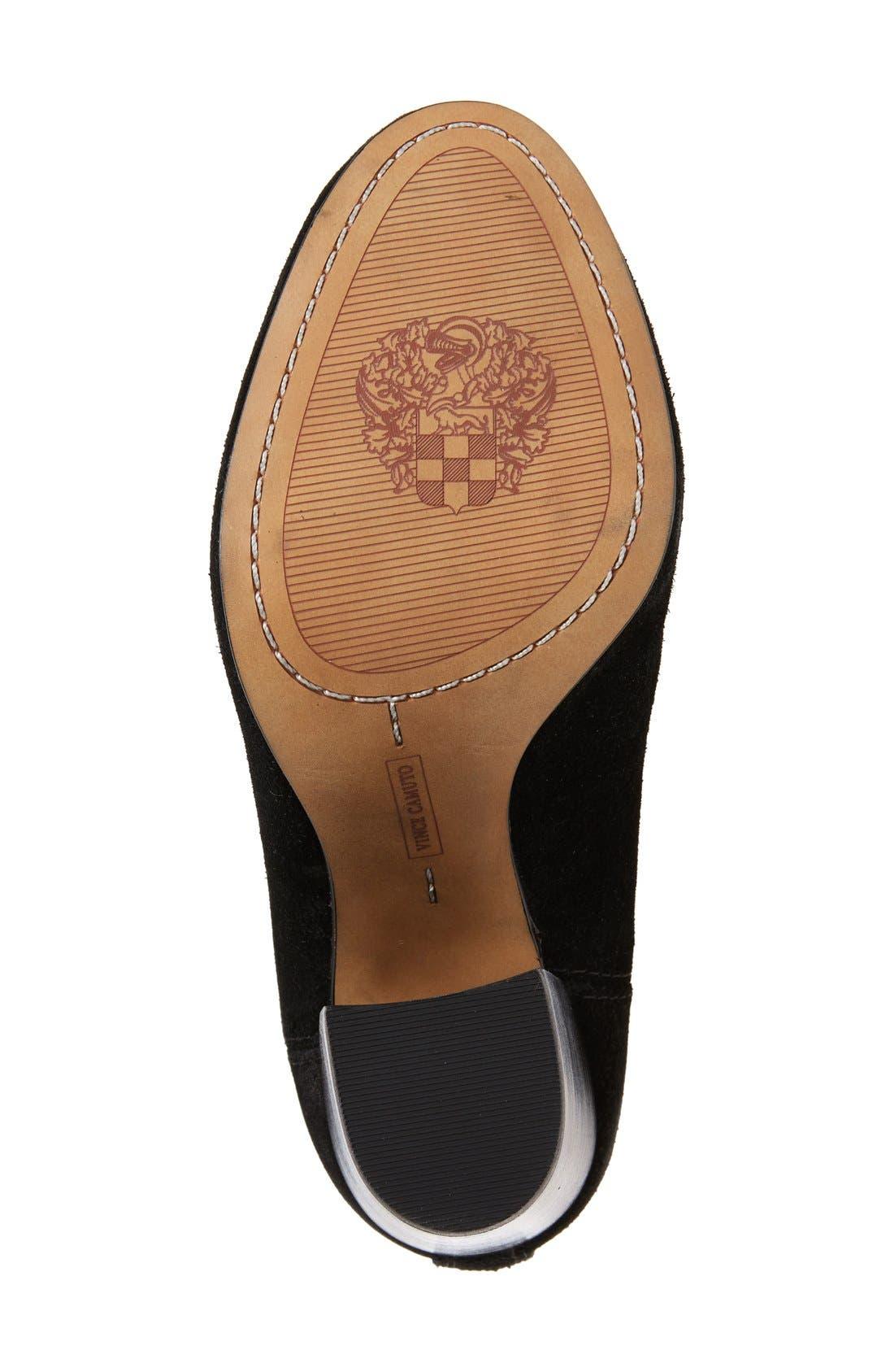 'Fermel' Slouch Tassel Boot,                             Alternate thumbnail 4, color,                             001